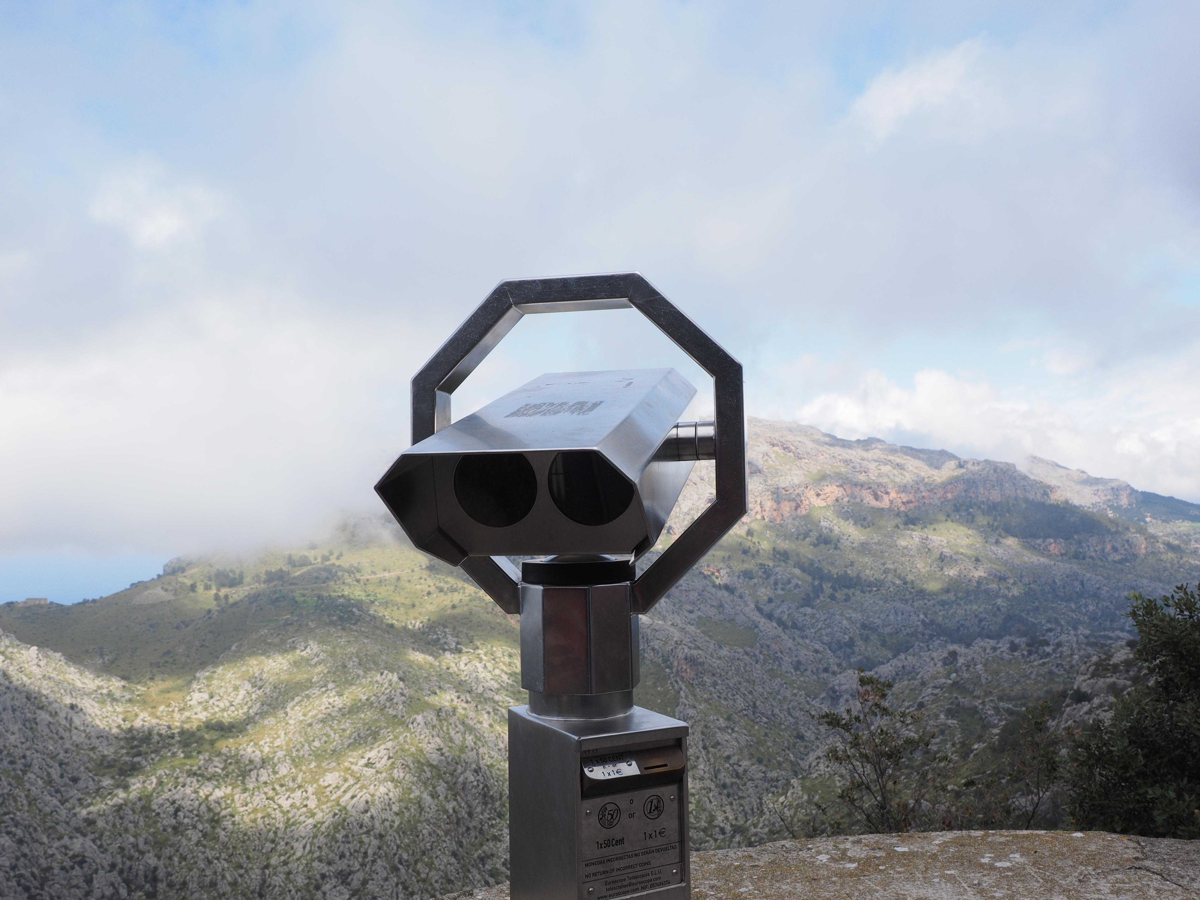 Fotoğraf izlemek dağ gökyüzü görünüm bak teleskop mesafe