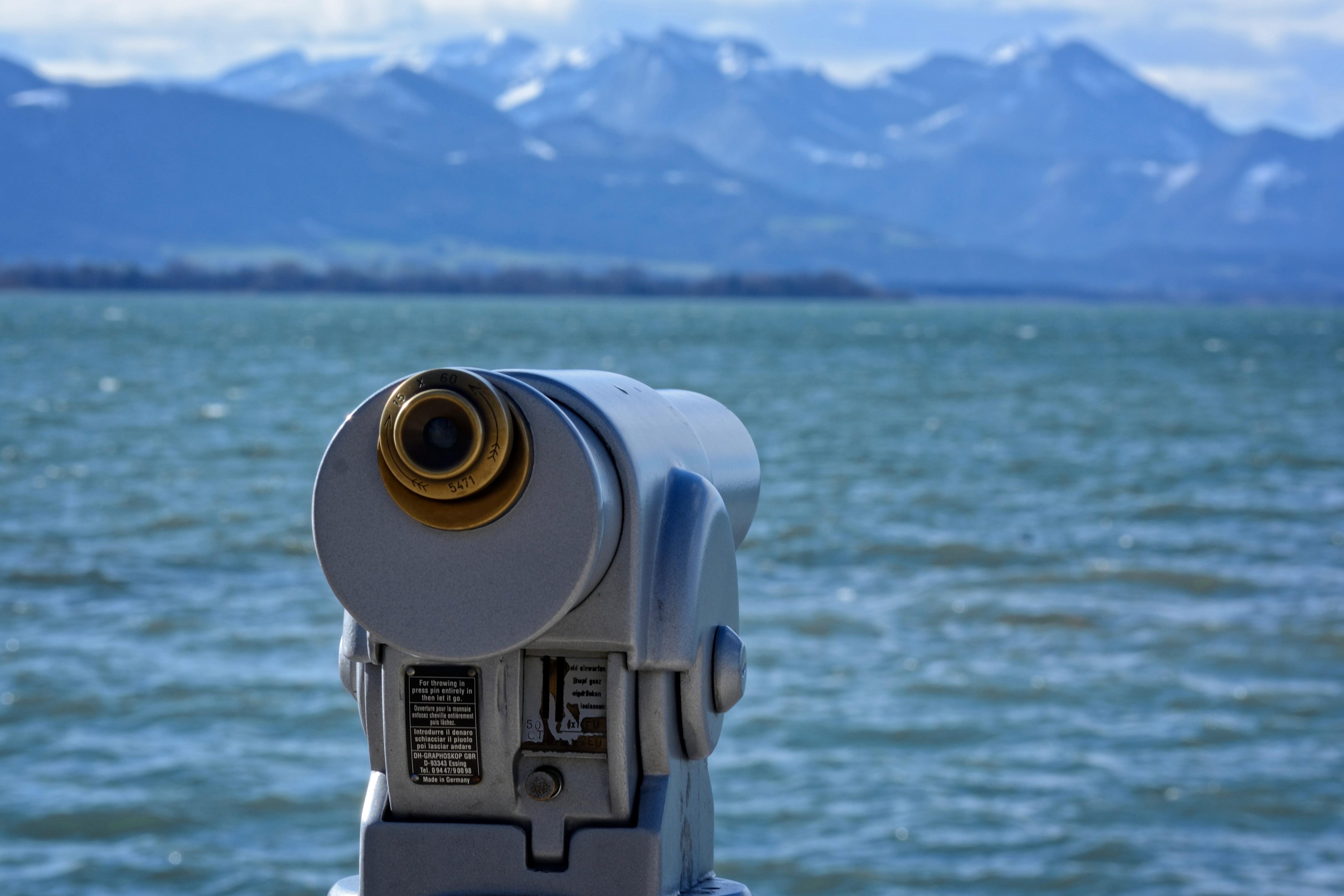 Gambar : menonton laut air danau jarak kendaraan optik lebar