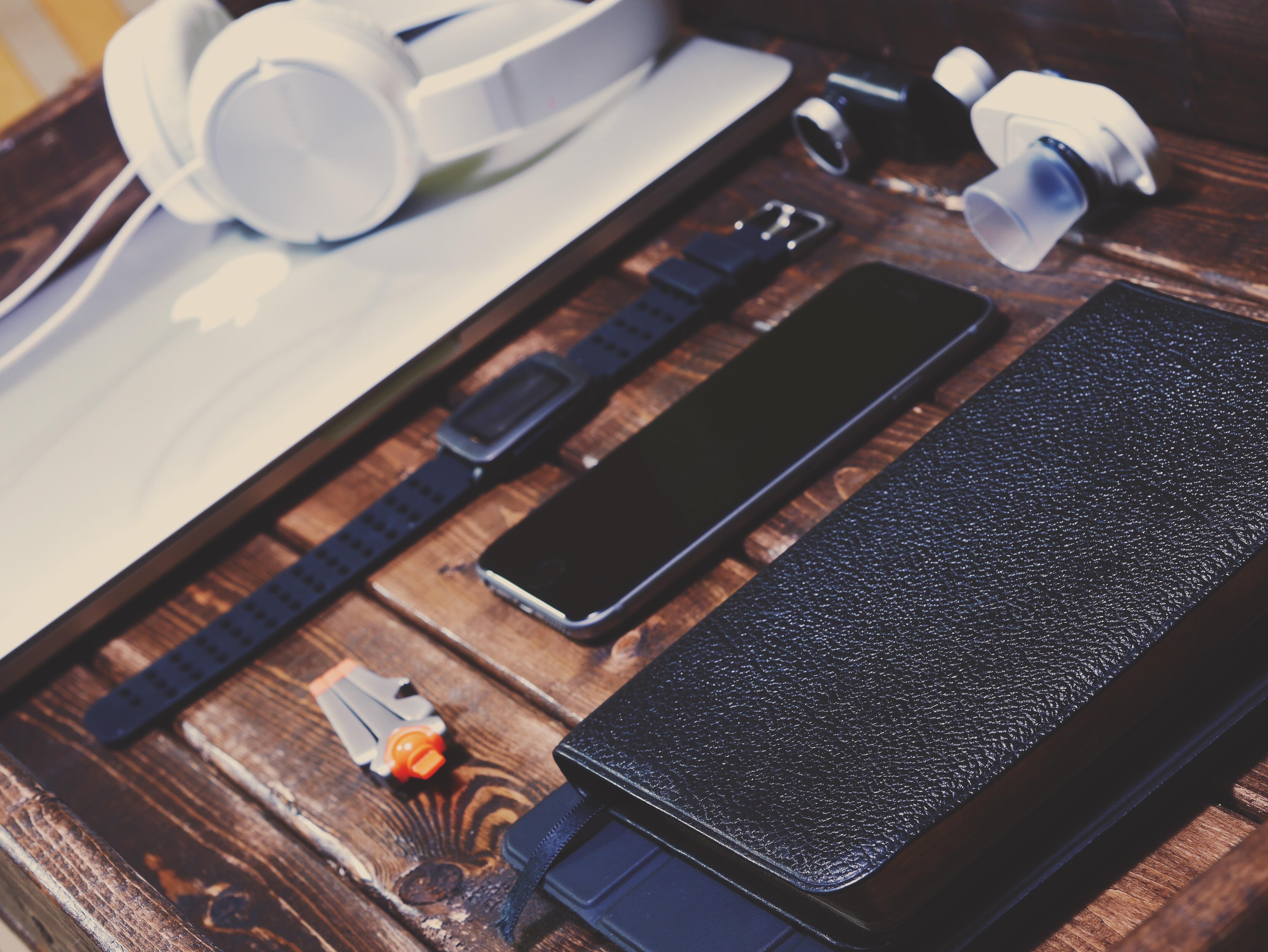 Watch Table Wood Technology Headphone Phone Office Furniture Flooring