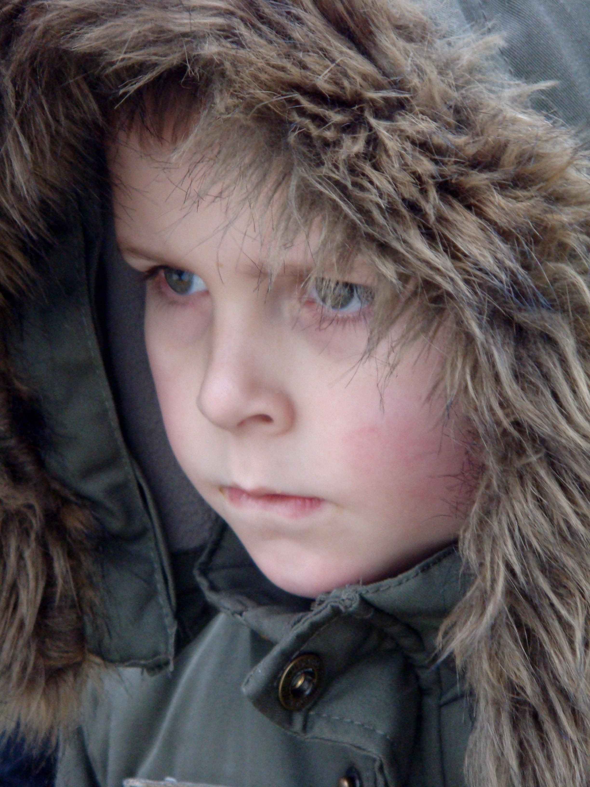 Kostenlose Foto Uhr Winter Madchen Haar Junge Pelz Portrat