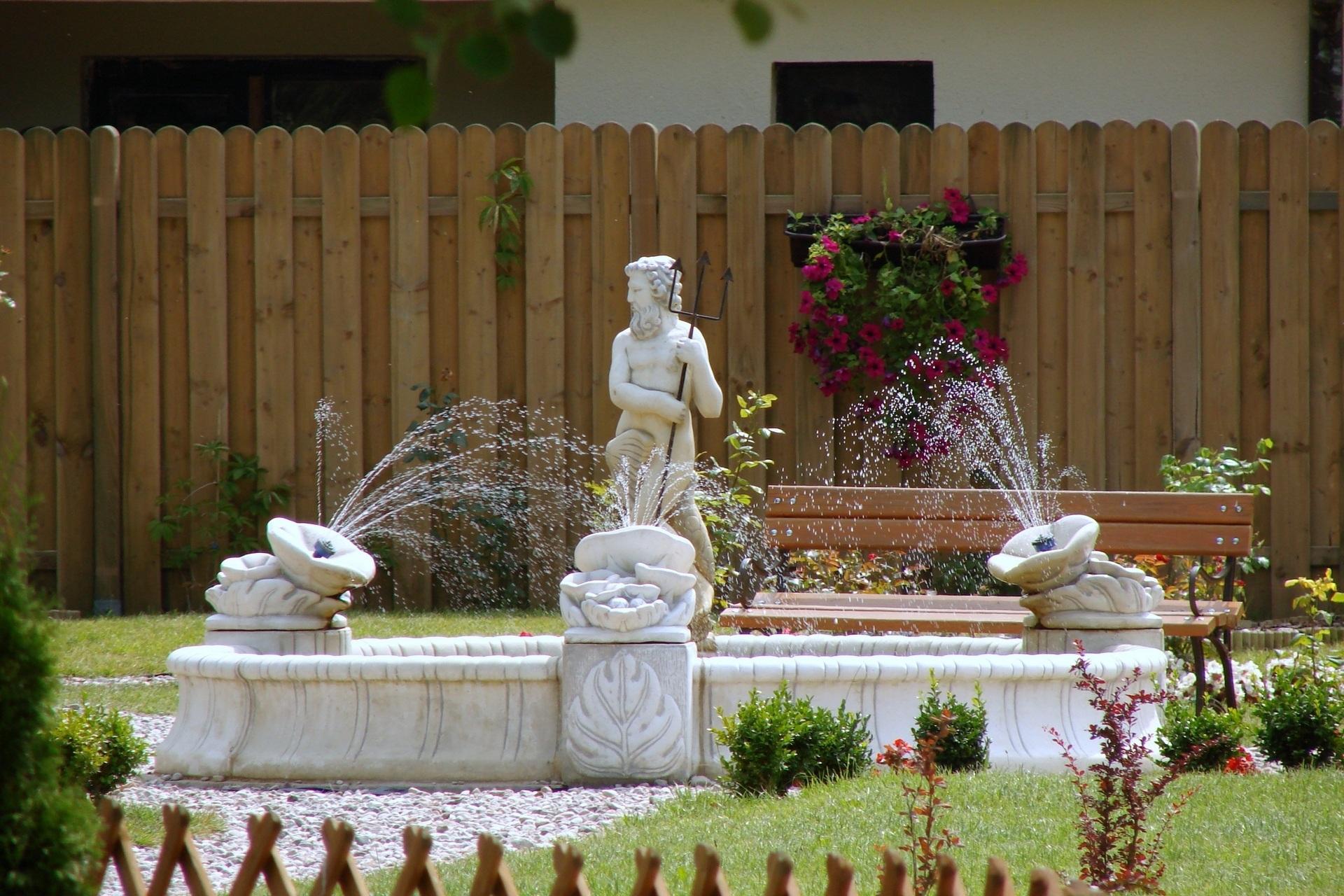 Fotos gratis : agua, arquitectura, flor, jardín, pasillo, escultura ...
