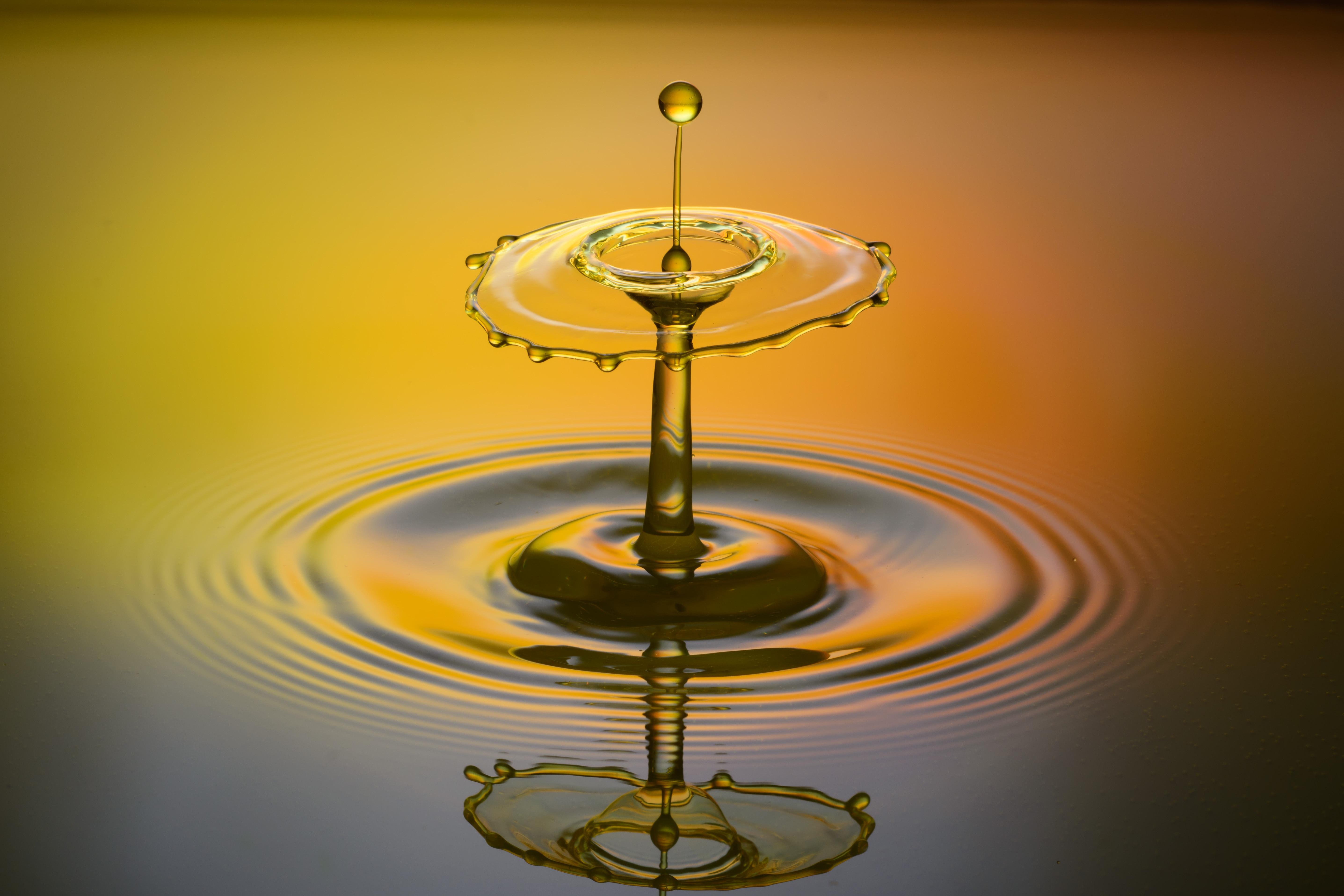 Images Gratuites Eau Laissez Tomber Liquide Orange