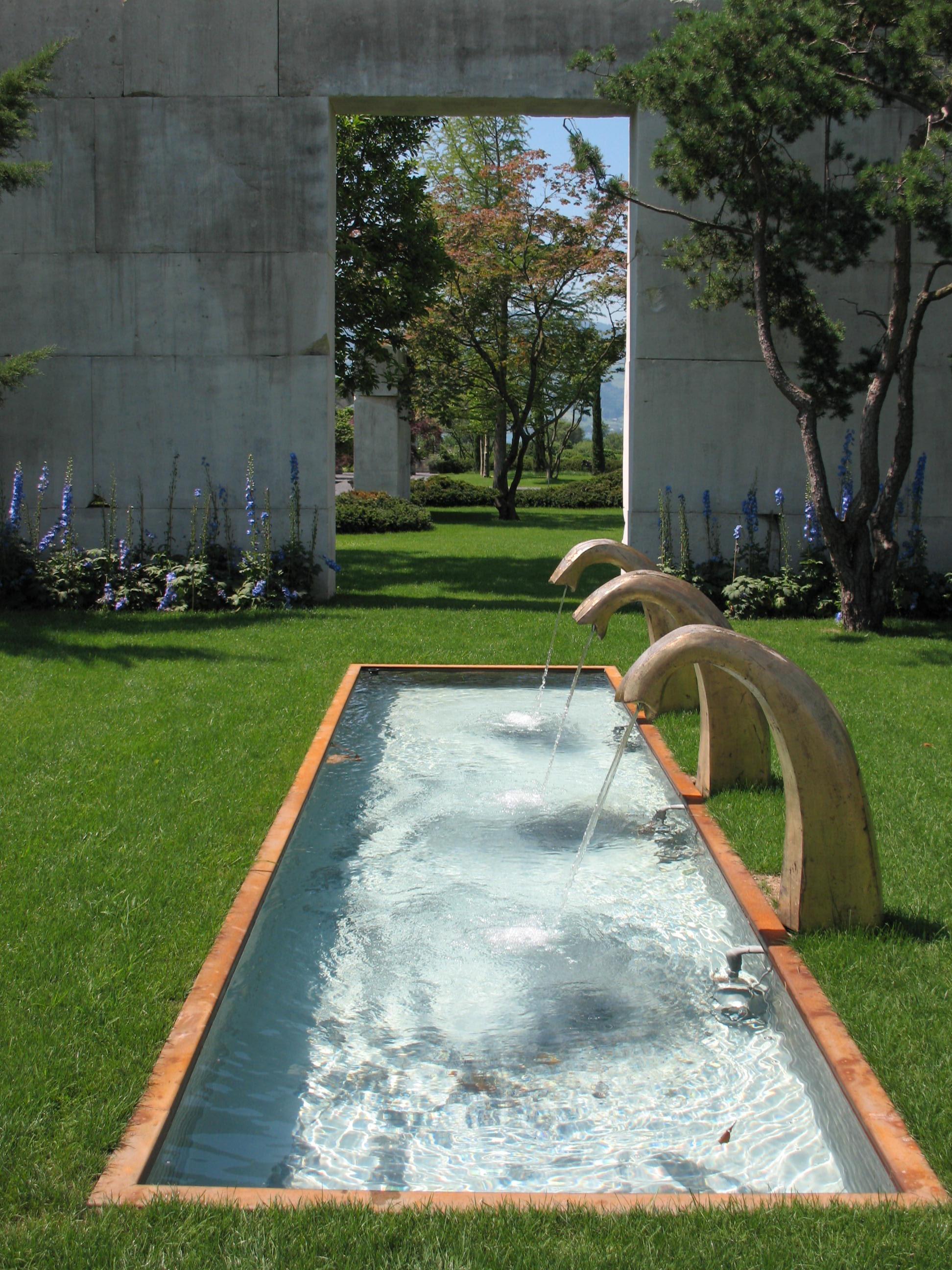 Backyard Architect Part - 38: Water Grass Lawn Swimming Pool Backyard Garden Leisure Art Estate Yard  Water Feature Reflecting Pool Rapperswil