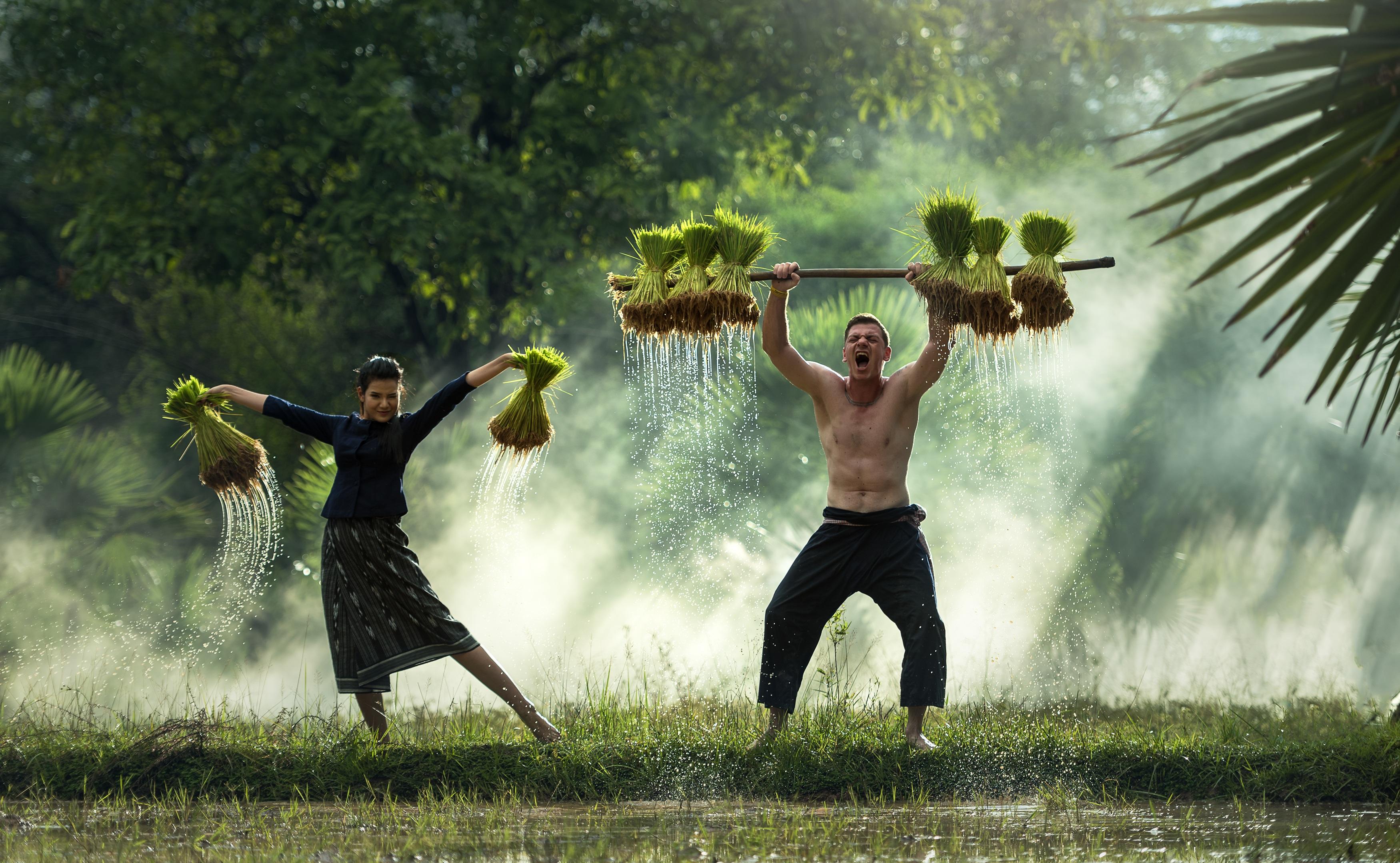 kostenlose foto  wasser gras draussen menschen