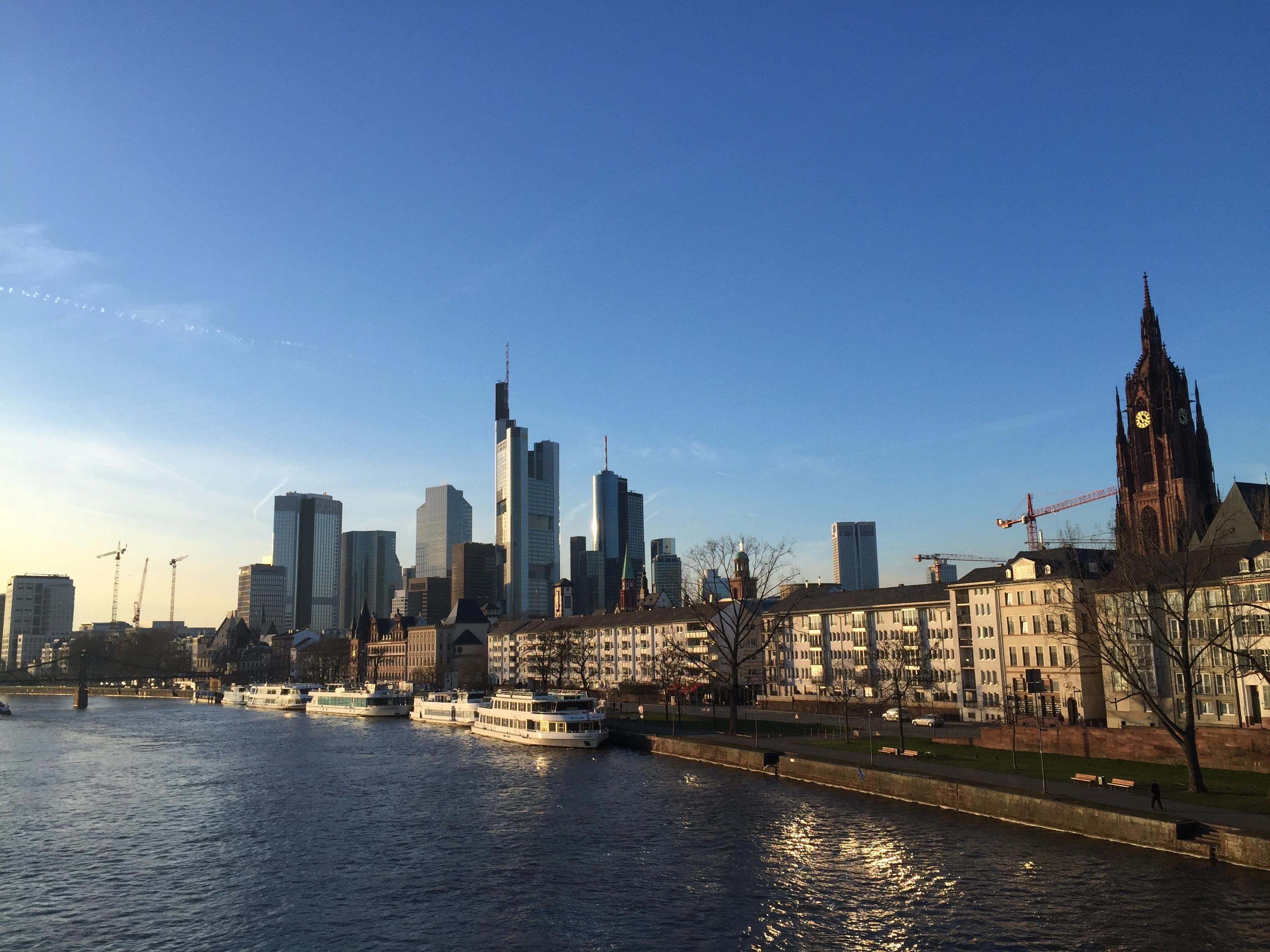 Free Images Water Horizon Light Architecture Sky Bridge - Frankfurt river
