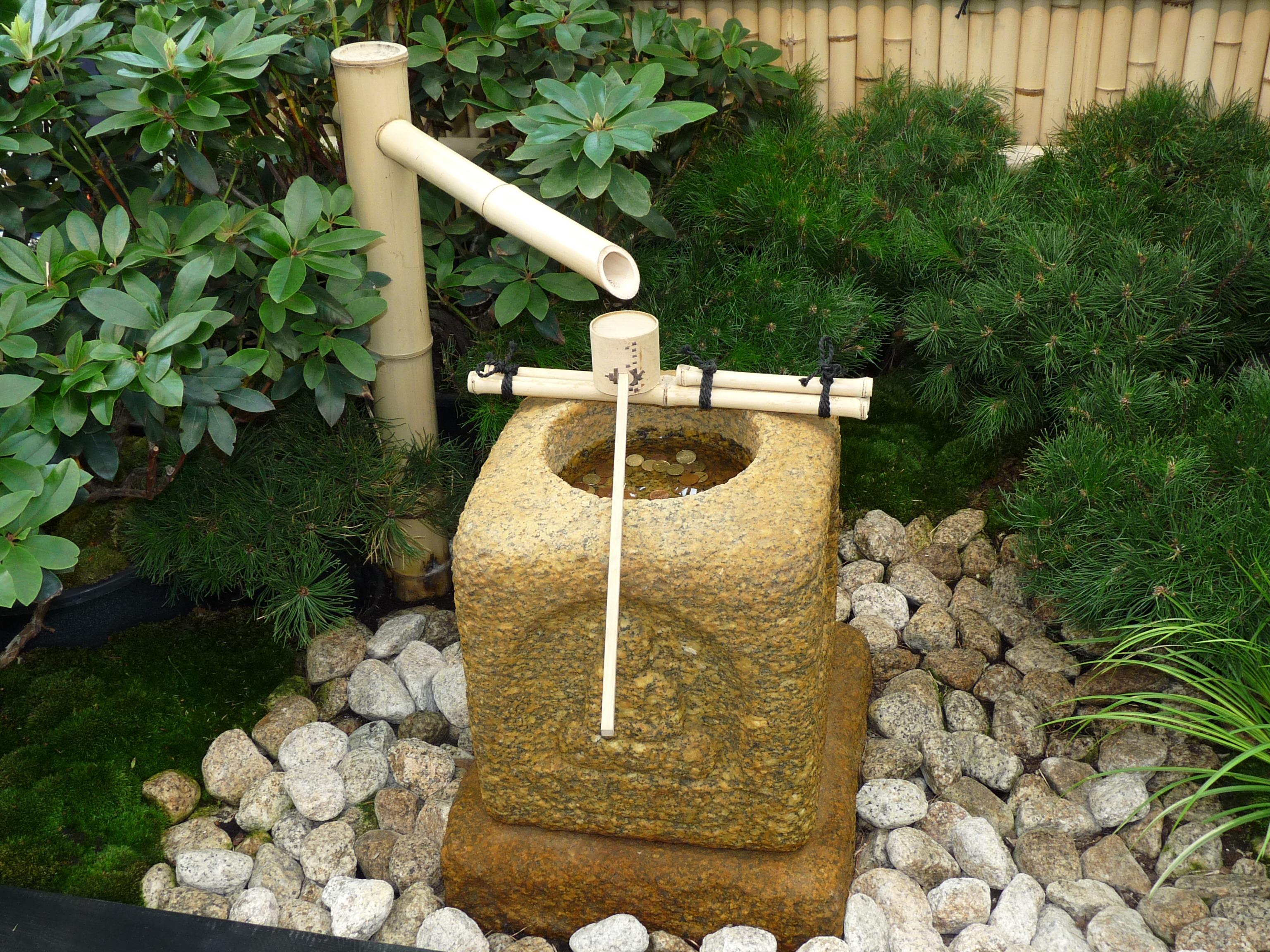 Beau Water Lawn Tube Decoration Money Backyard Soil Garden Water Fountain Stones  Fountain Flowerpot Yard Bamboo Water