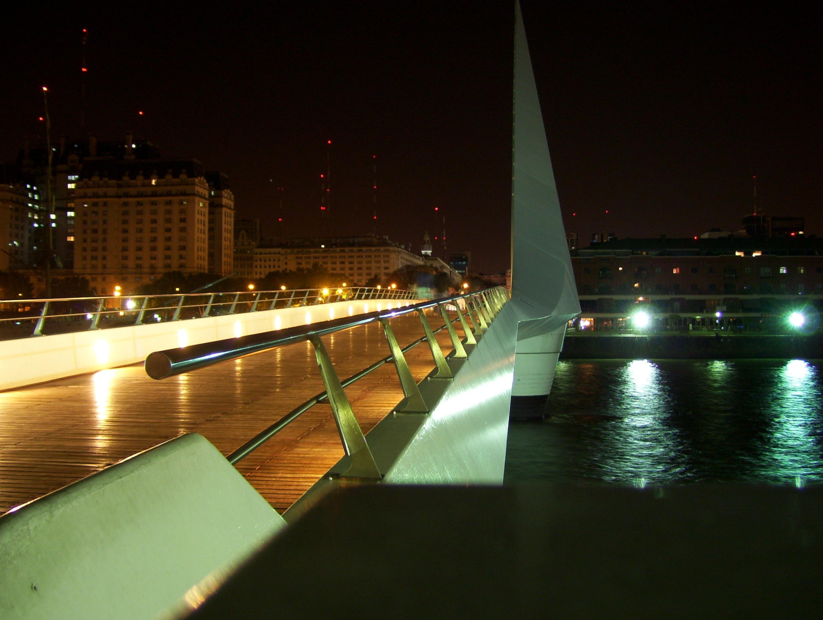 Fotos gratis agua ligero puente horizonte noche for Interieur forma buenos aires
