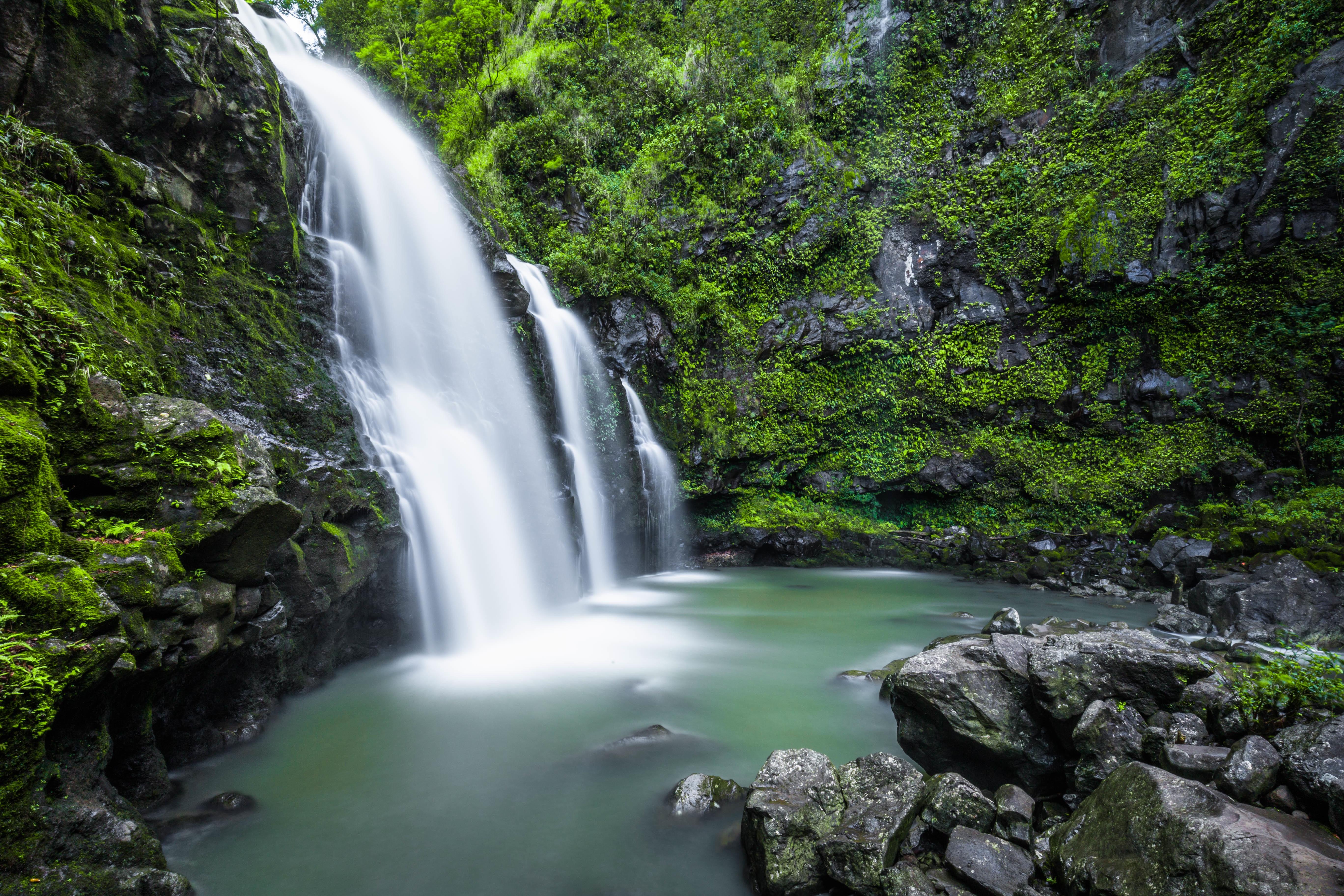 images gratuites eau la nature roche cascade bois. Black Bedroom Furniture Sets. Home Design Ideas