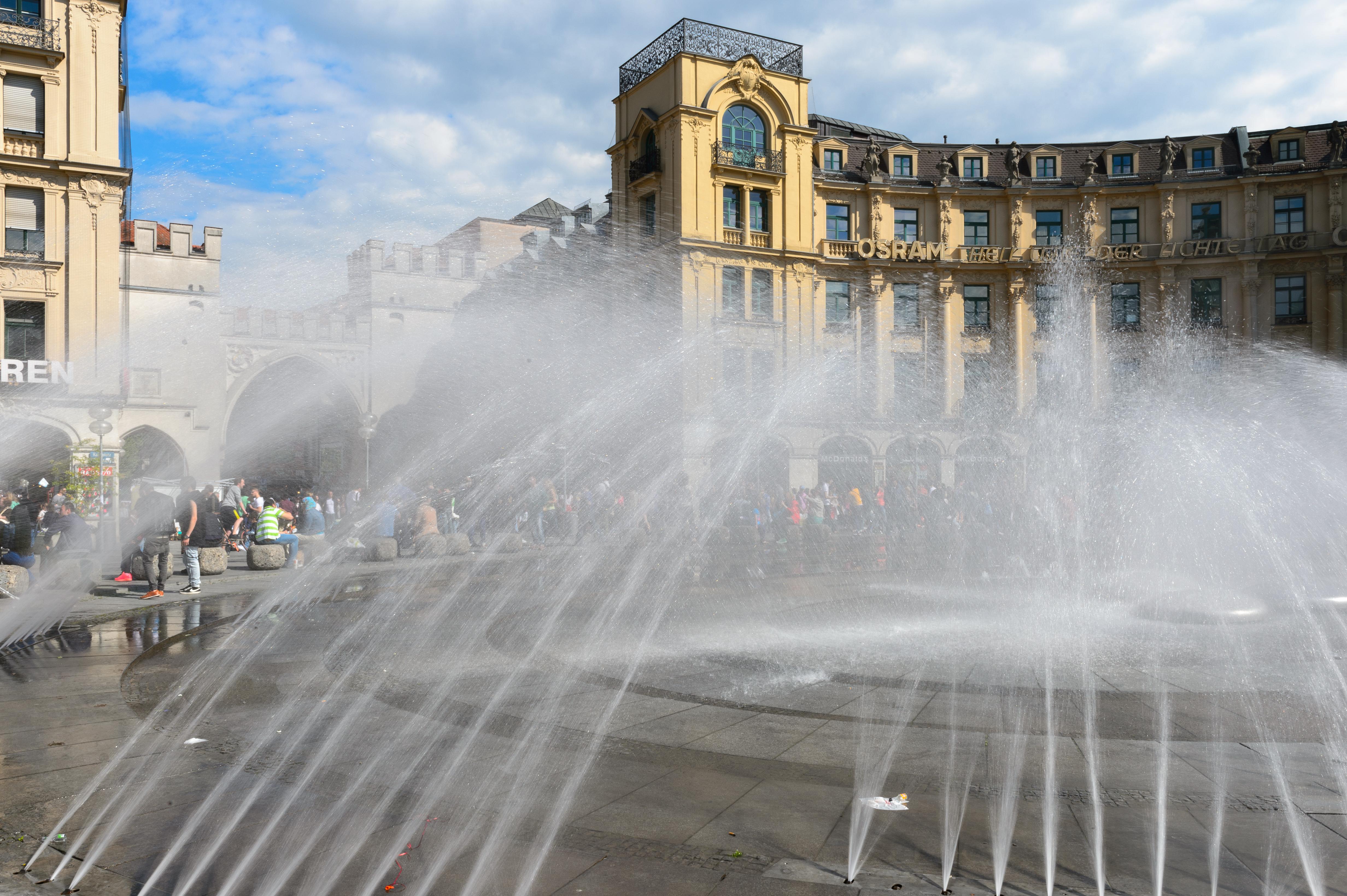 Wasser Nikon Brunnen Deutschland Wasser Funktion München Germania  Einfrieren Muenchen Nikond4 D4 Monacodibaviera Germani Stadtgebiet