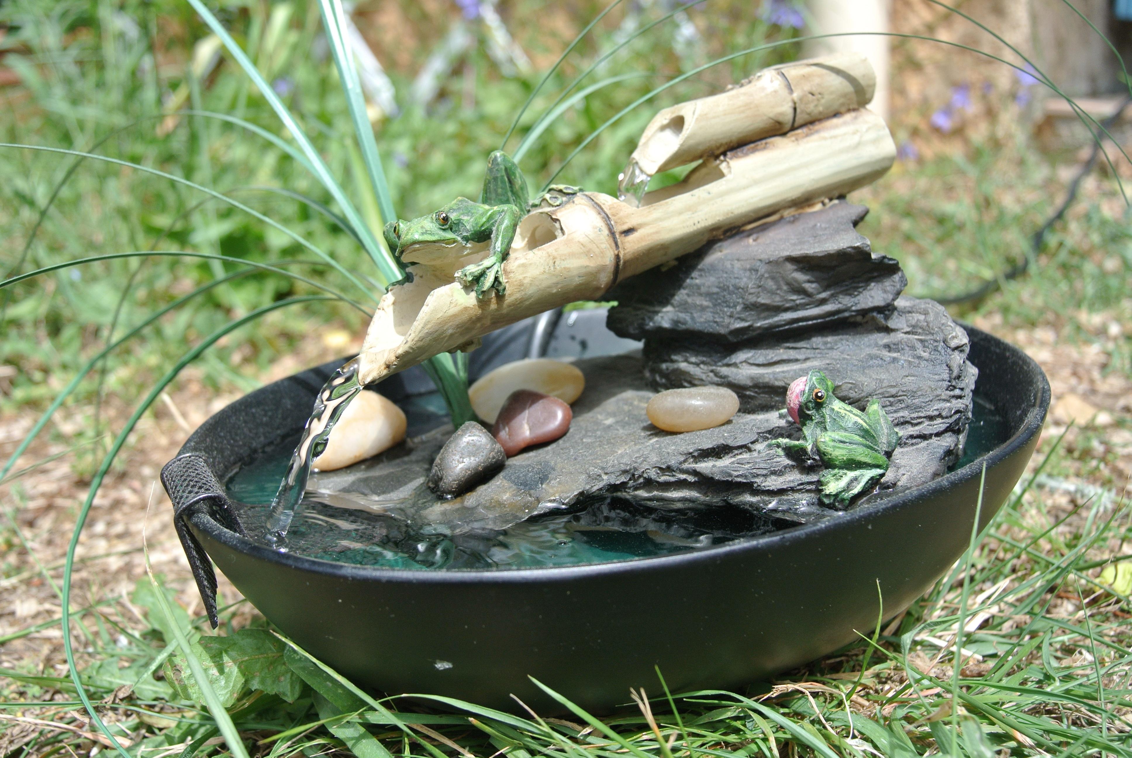 fontaine de jardin zen