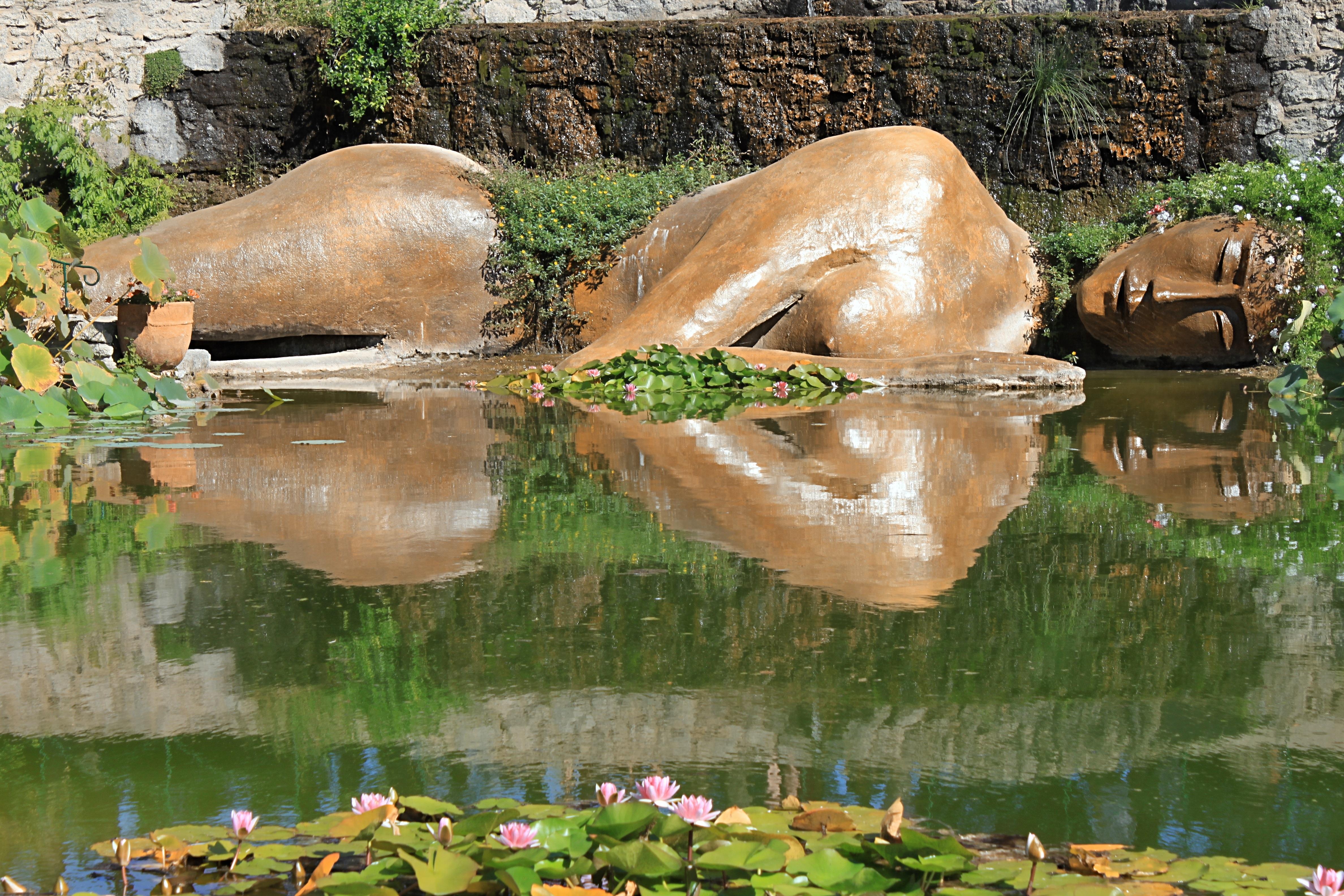 free images statue reflection jungle buddhist. Black Bedroom Furniture Sets. Home Design Ideas