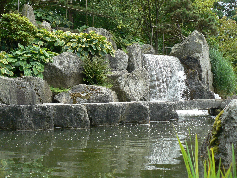 Fotos gratis rock cascada flor estanque bot nica for Cascada de agua para jardin