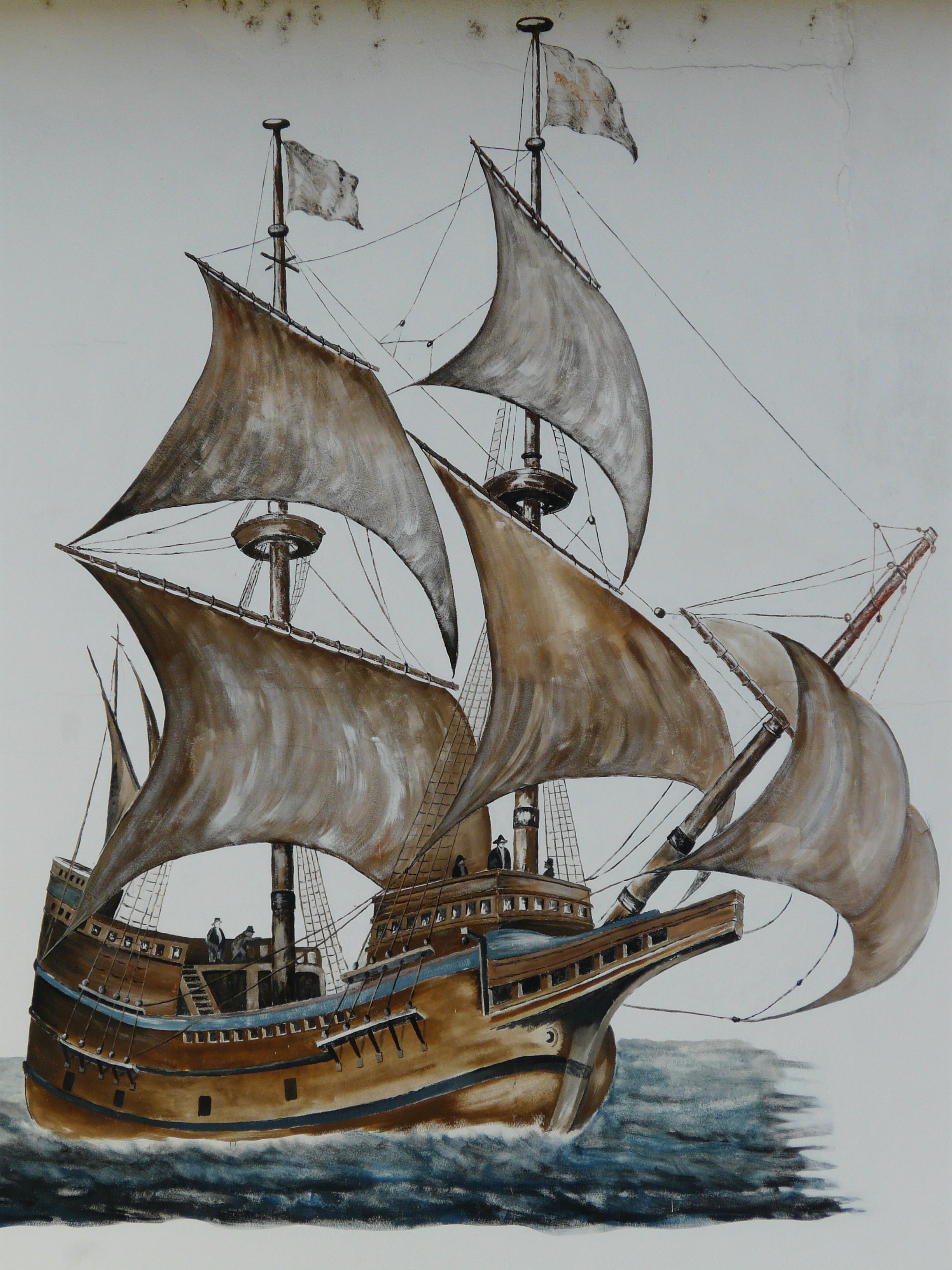 Gambar Air Sepatu Bot Kendaraan Perahu Layar Sketsa Gambar