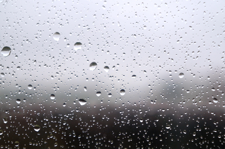 Gambar Air Salju Penurunan Hitam Dan Putih Hujan Kaca Cuaca