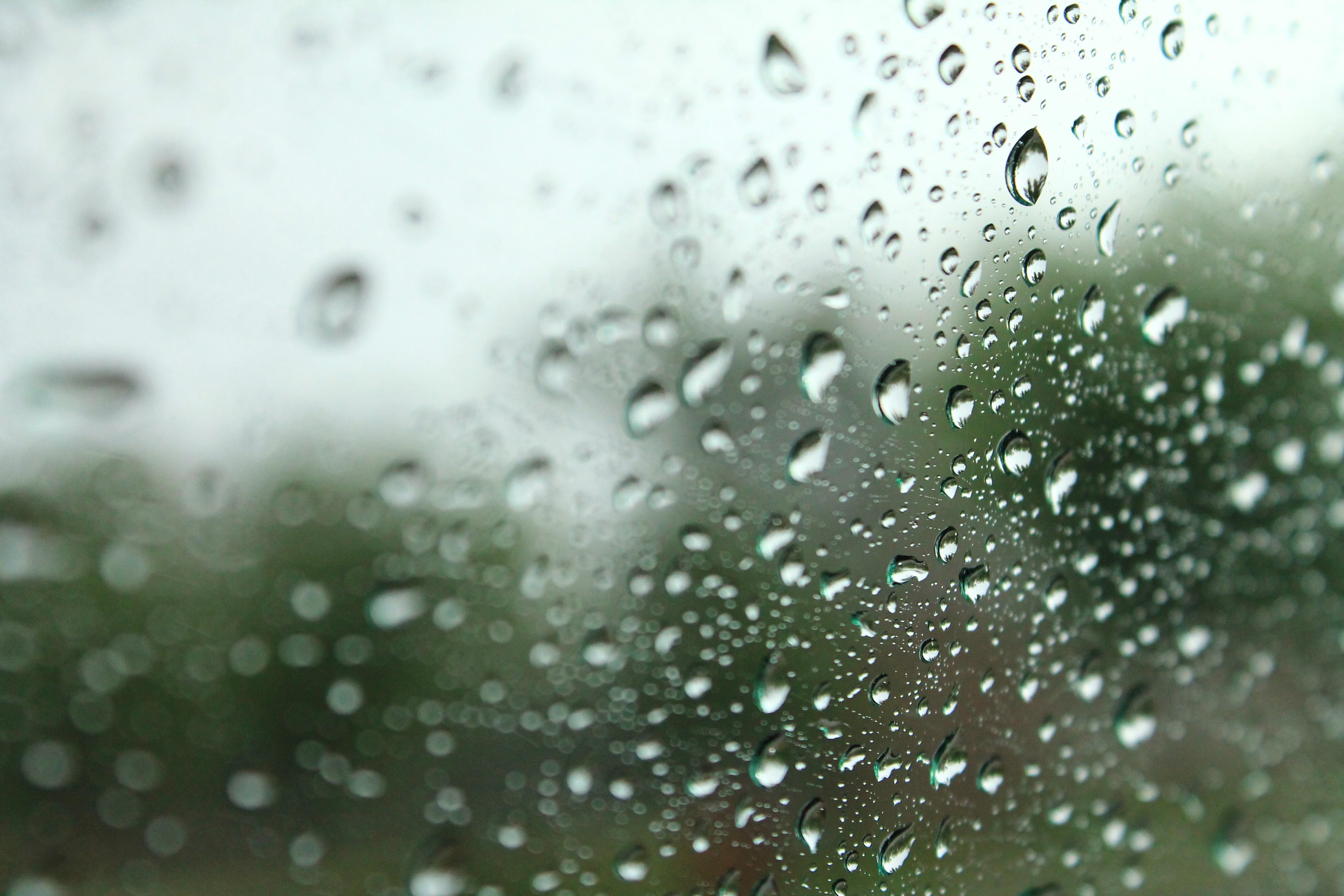 Gambar Air Salju Penurunan Hujan Daun Kaca Cuaca Merapatkan