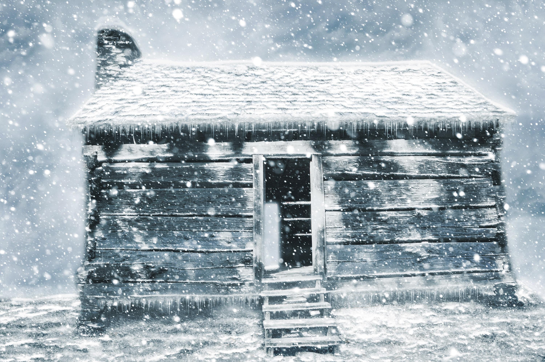 Картинки заснеженных хат