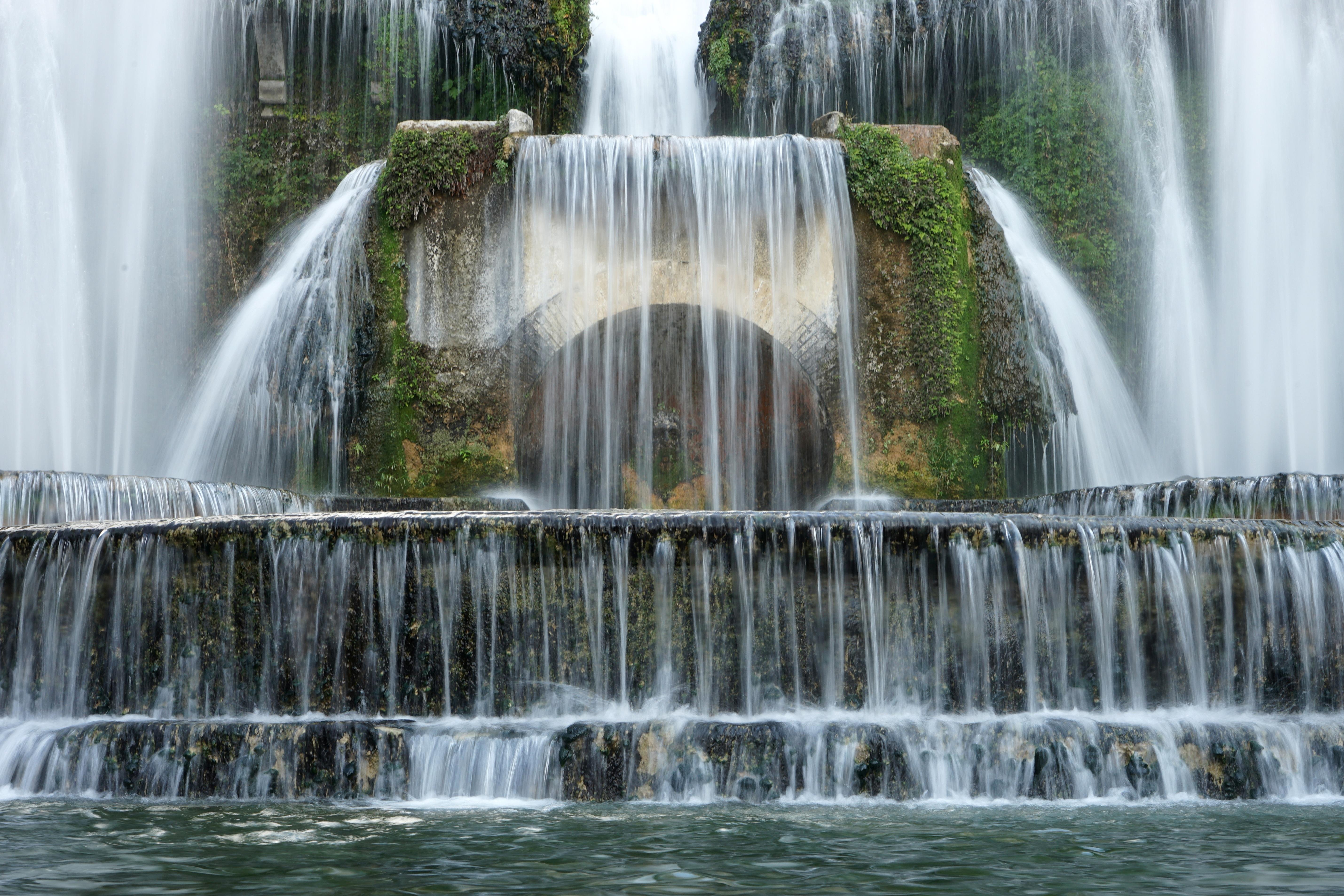 Images gratuites eau cascade parc ch teau italie - Cascade d eau de jardin ...