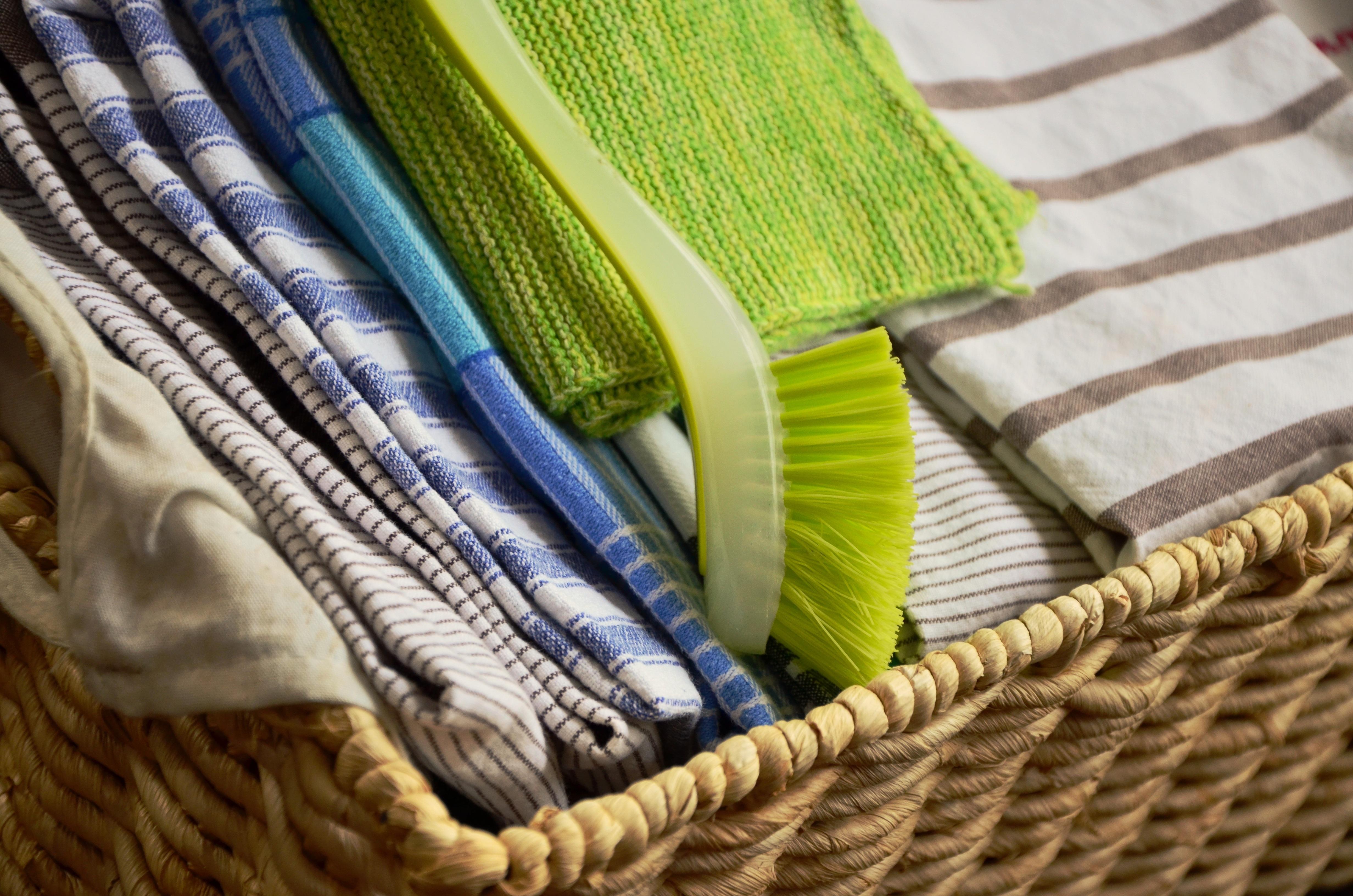 Kostenlose foto : nass, trocken, Grün, spülen, Küche, Korb, Tuch ...