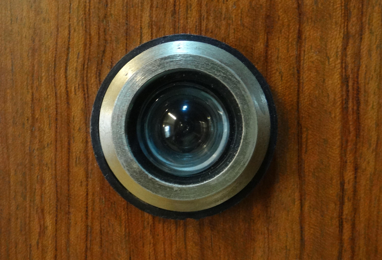 Wheel Door Device Eye Camera Lens Peephole Man Made Object Magic Eye