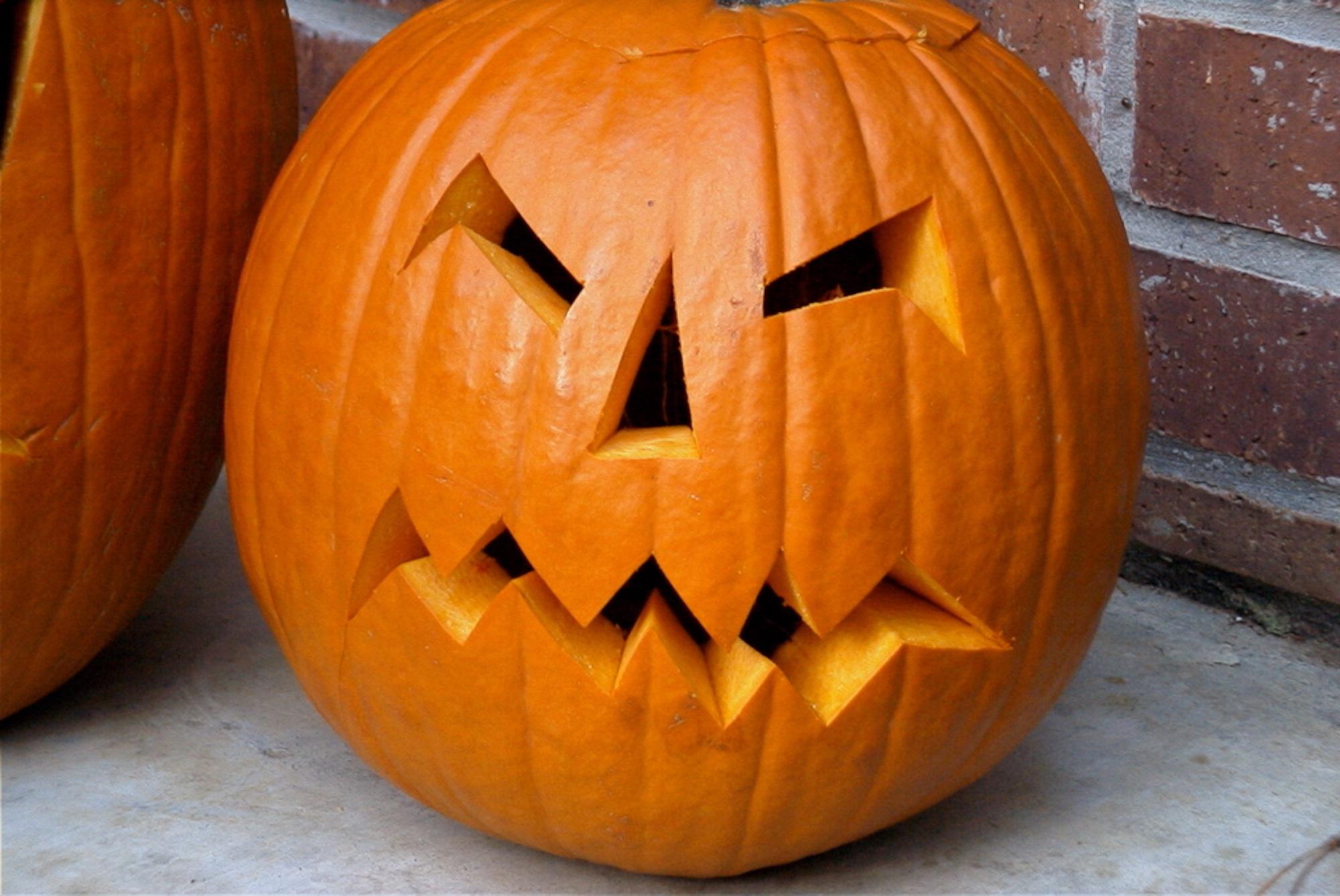 Картинки страшной тыквы на хэллоуин