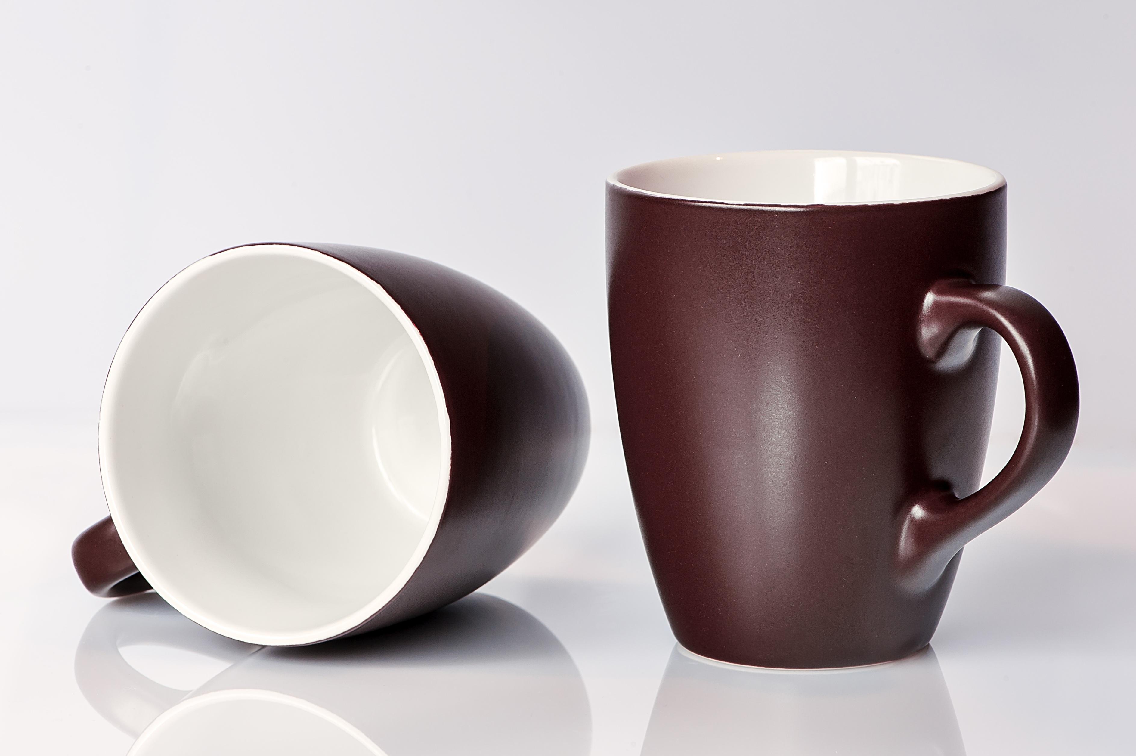 White Cup Saucer Ceramic Brown Drink Breakfast Espresso Mug Coffee Tableware Caffeine T Porcelain Cover