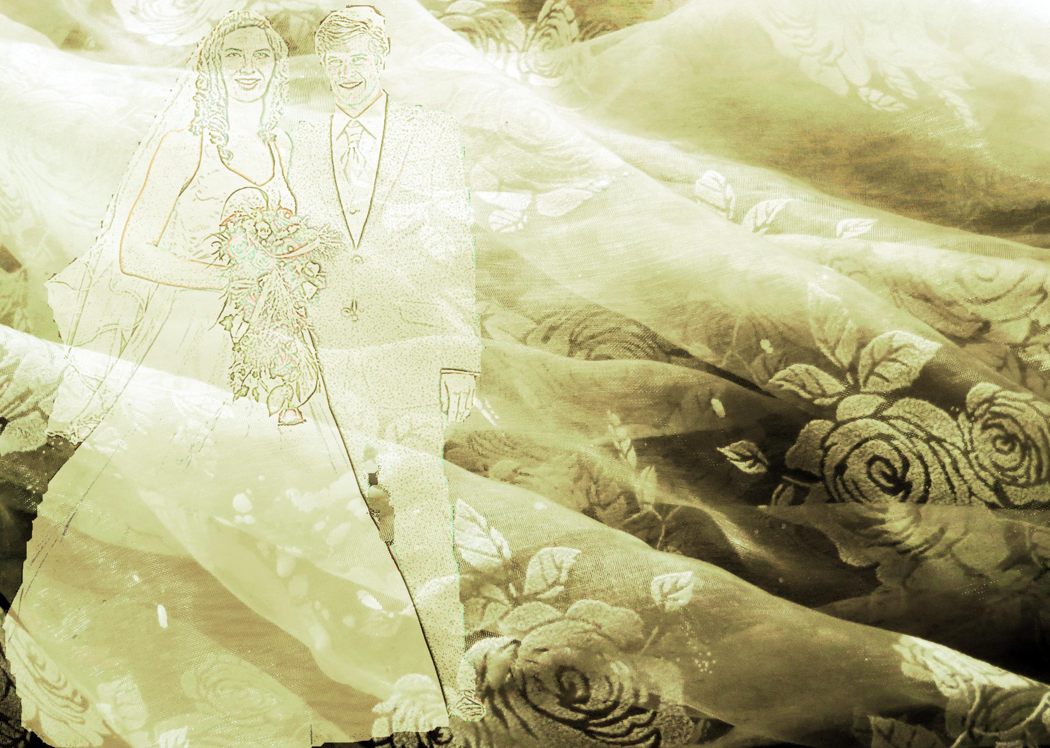 Gambar Putih Dekorasi Romantis Pernikahan Gaun