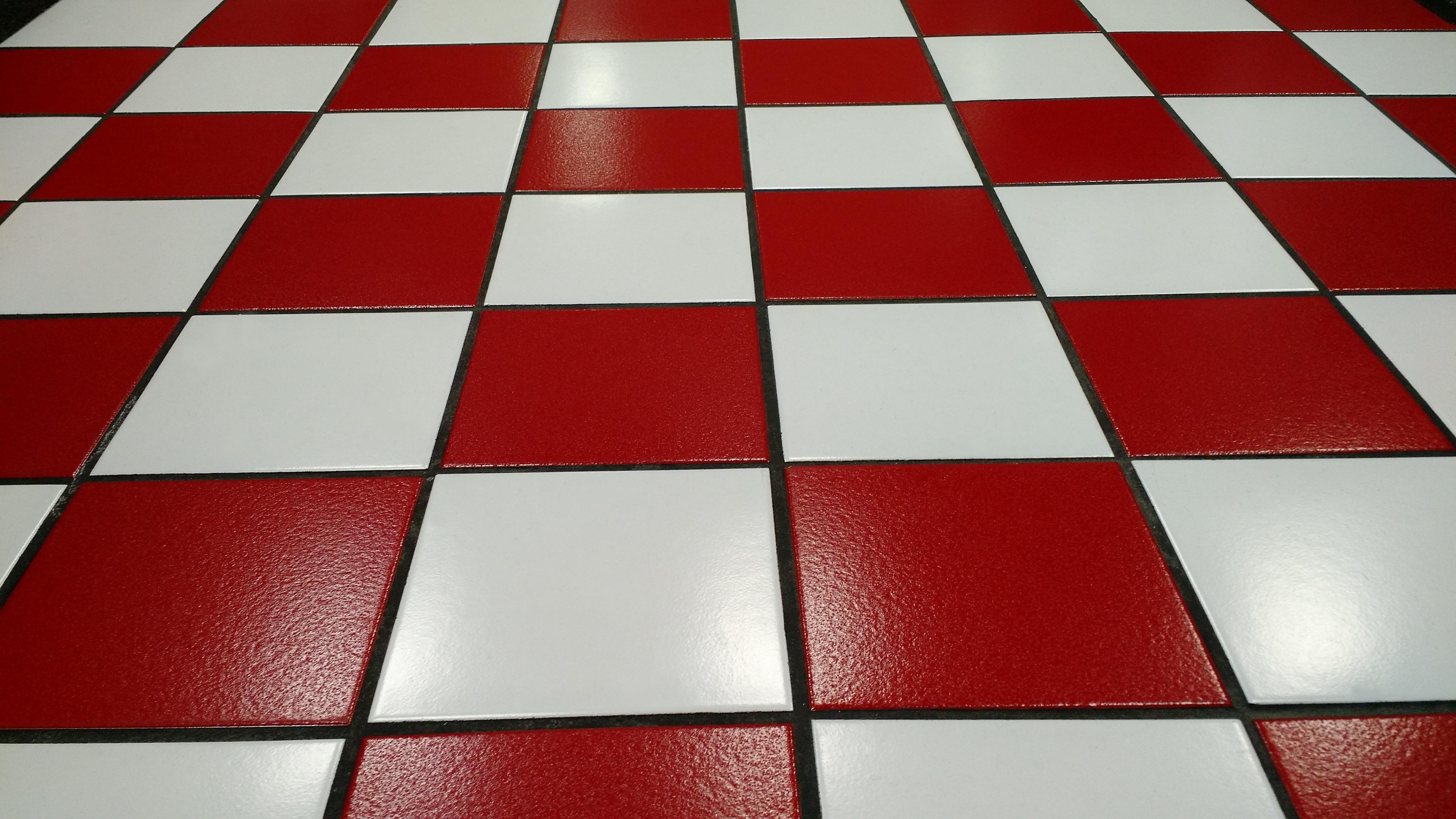 Floor Pattern Line Red Color