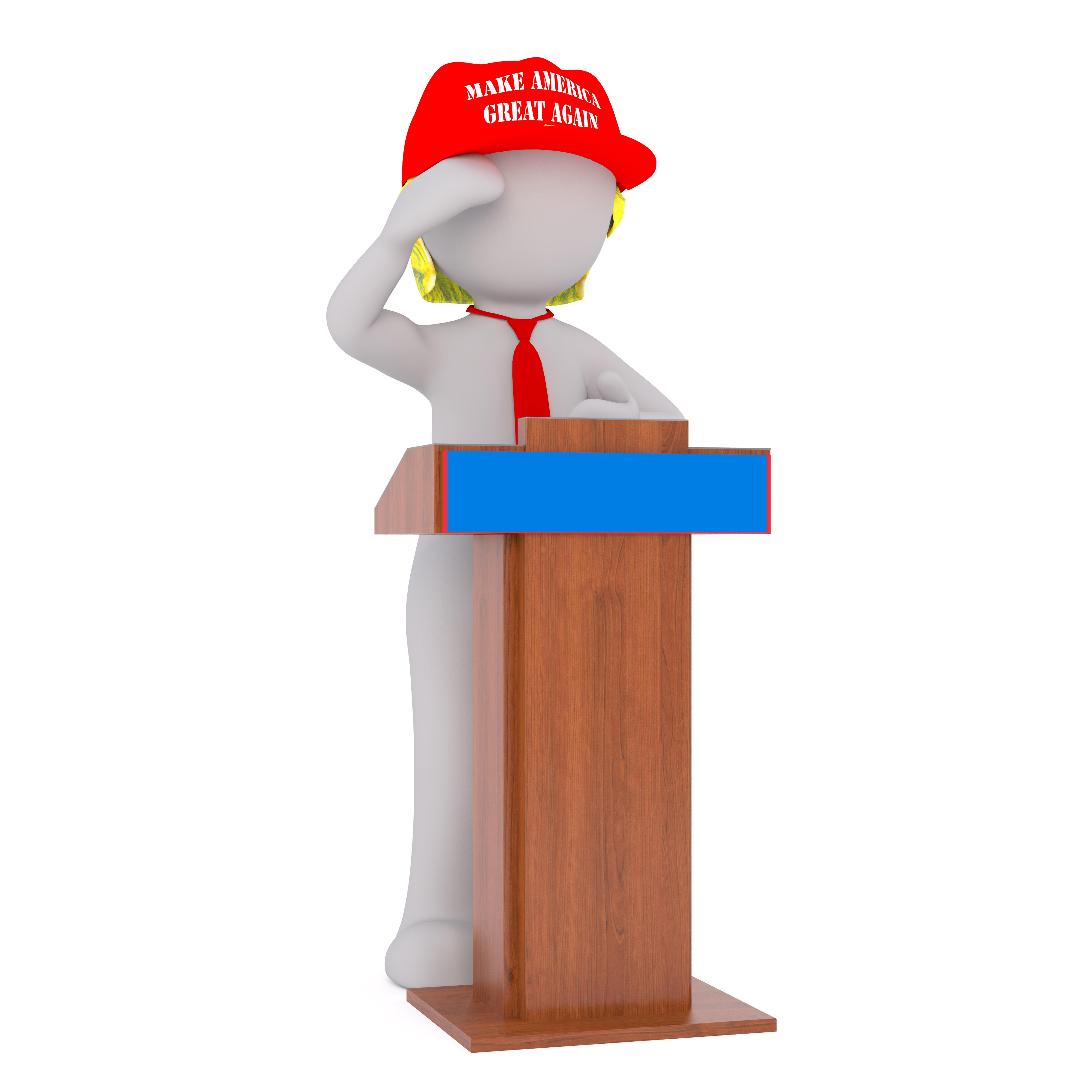 Gambar Terpencil Model Amerika Serikat Presiden Arca Truf