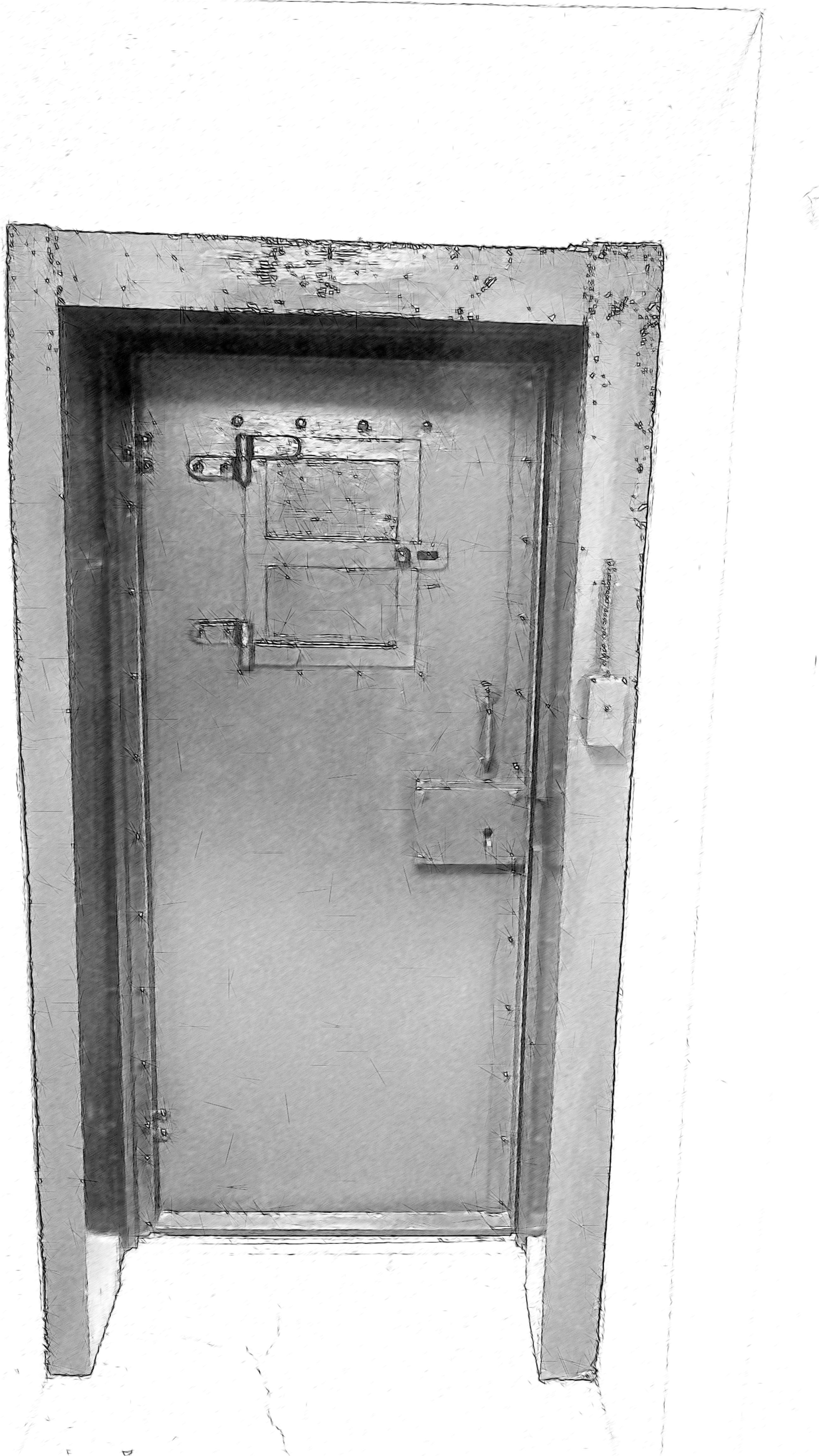 Porte ferm e dessin for La porte city jail