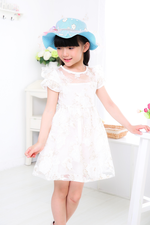 Witte jurk voor meisjes