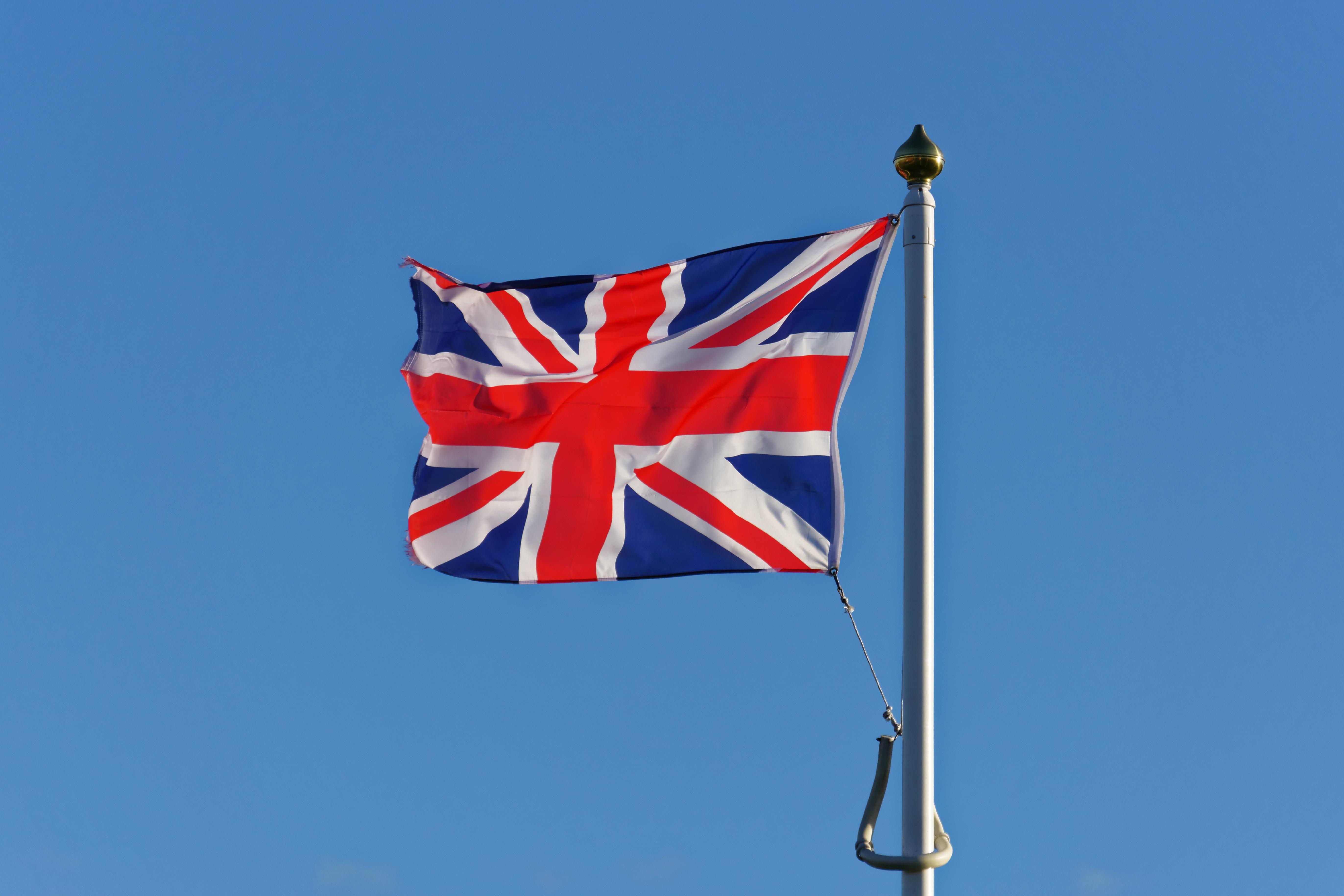 free images white wind red blue flagpole uk national