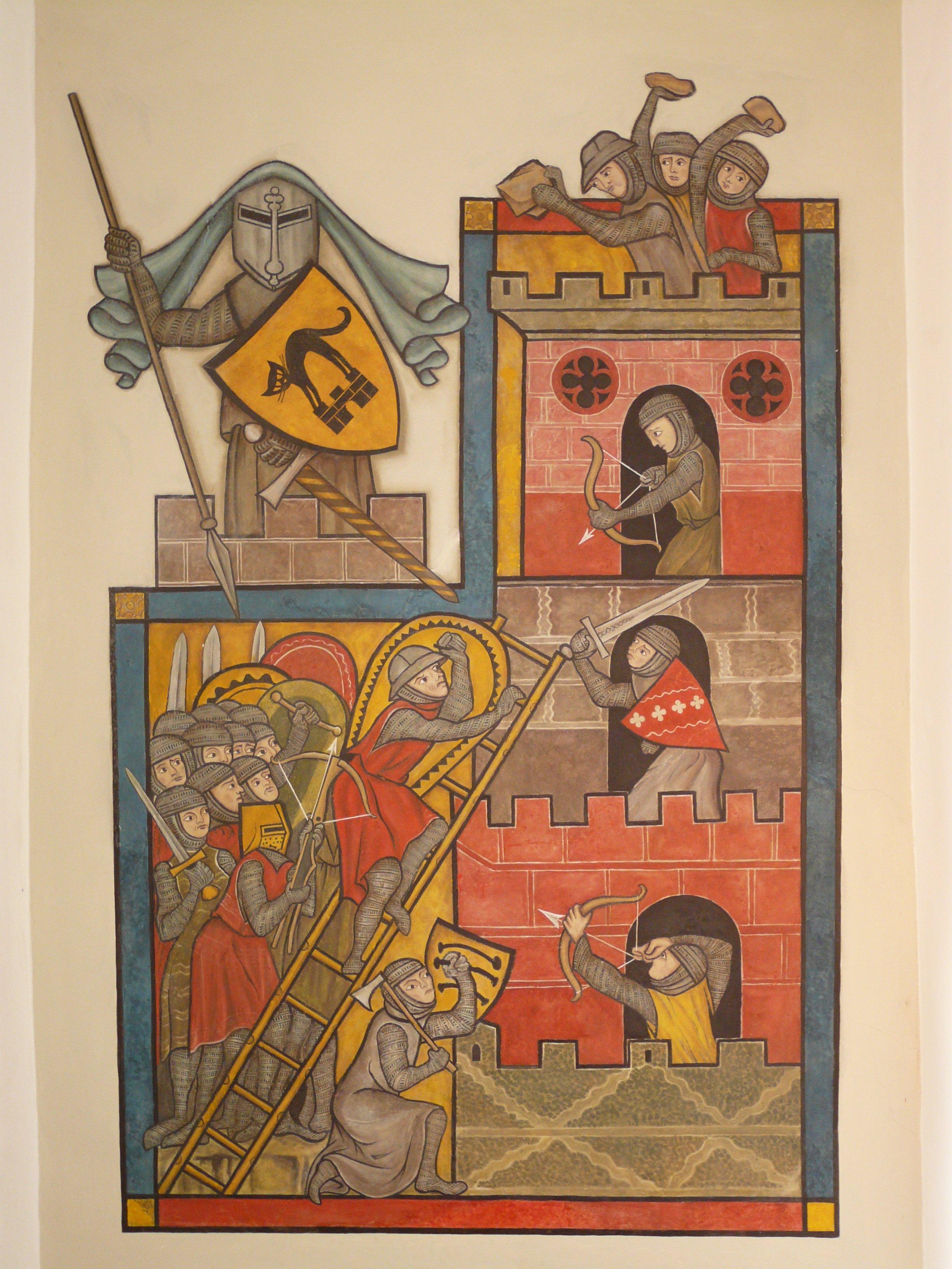 Gambar Jendela Kastil Pedang Pertarungan Sketsa Gambar