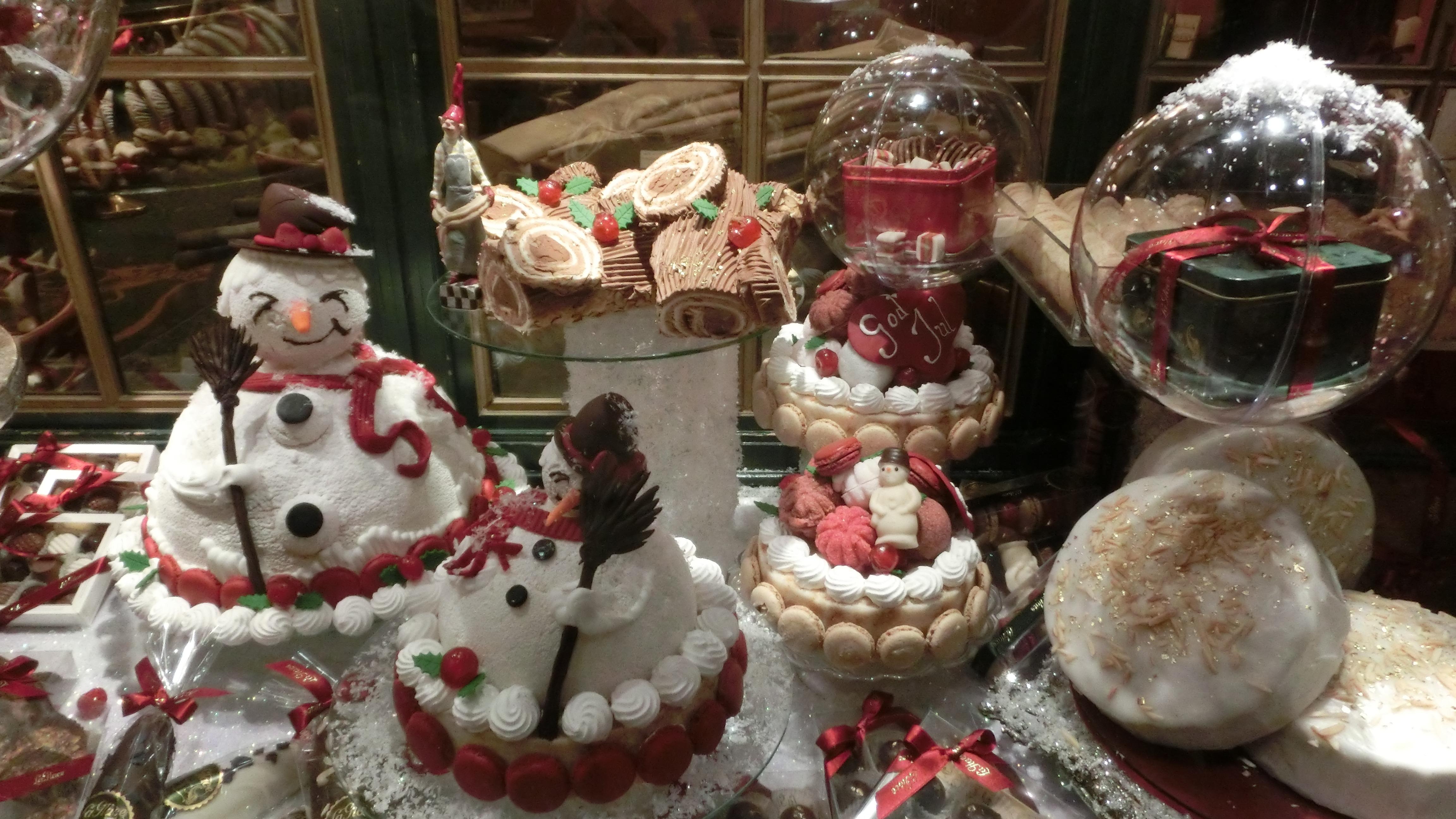 ventana decoracin comida navidad galleta postre pastel panadera adviento decoracin navidea pasteles monigote de nieve dinamarca