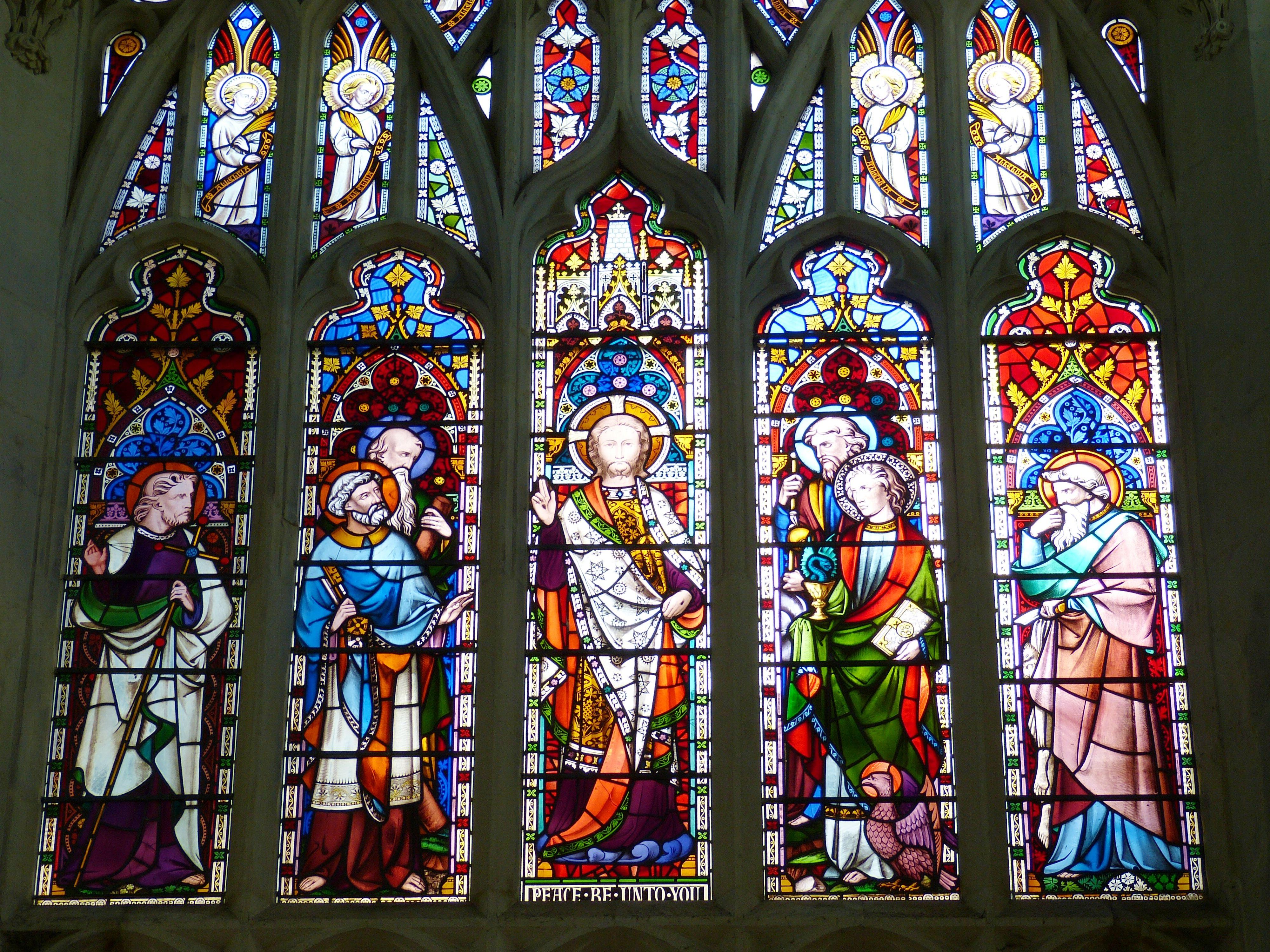 Fotoğraf Pencere Bardak Kilise Katedral Malzeme Gotik Vitray