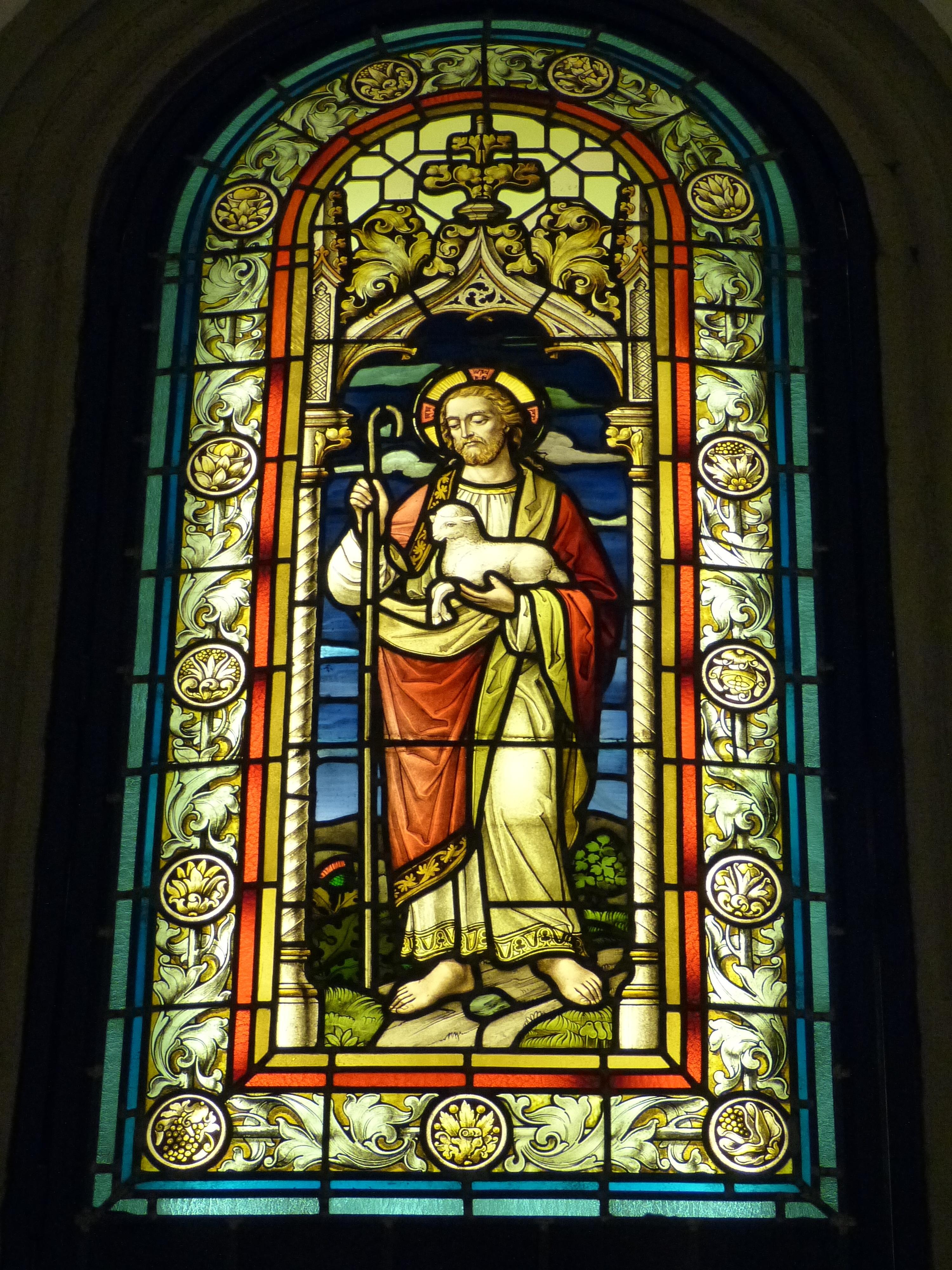 Gratis afbeeldingen venster kerk christelijk materiaal glas in lood bijbel lam christus - Geloof glas ingerichte ...