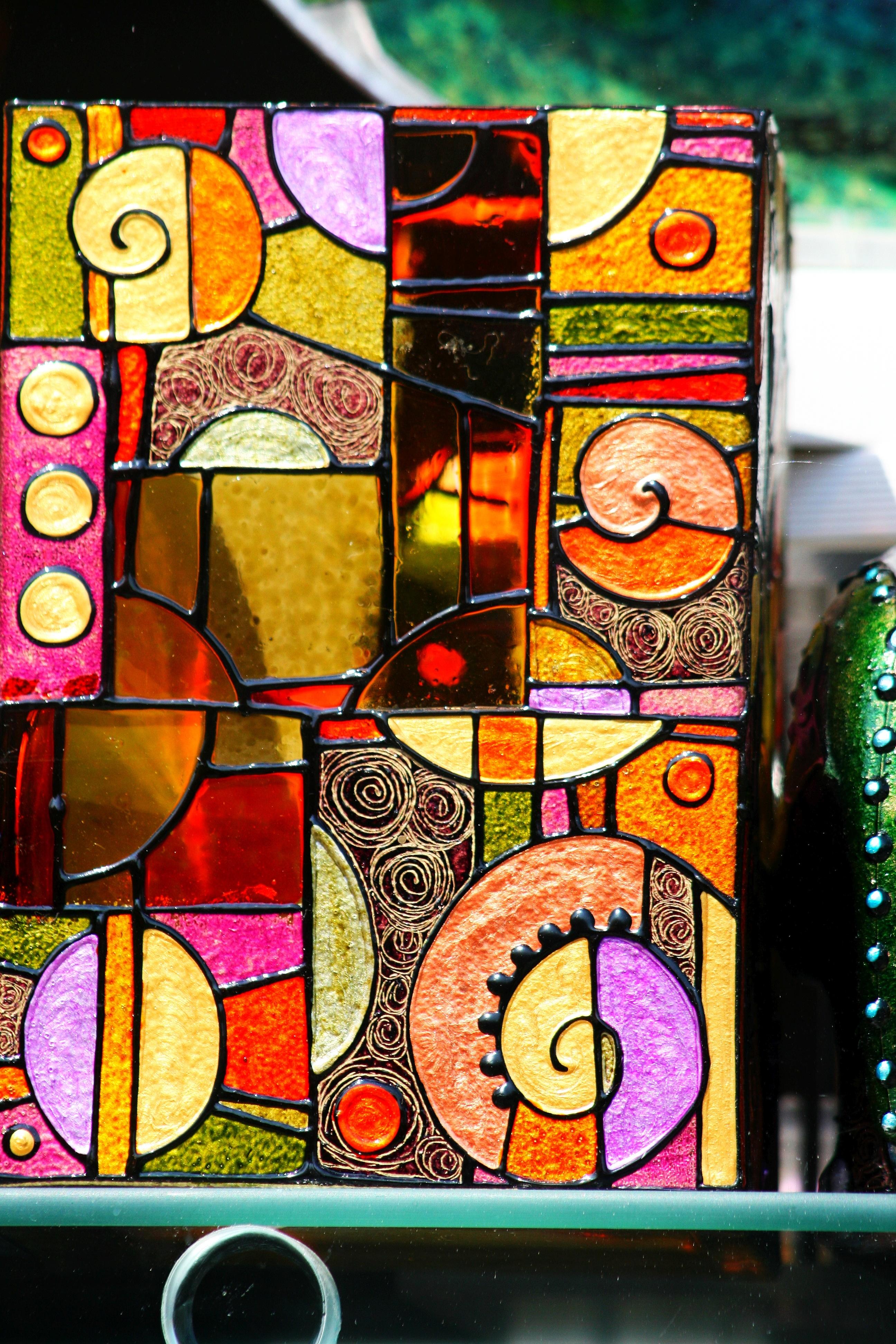 Fotograf Pencere Bardak Dekorasyon Renk Malzeme Vitray
