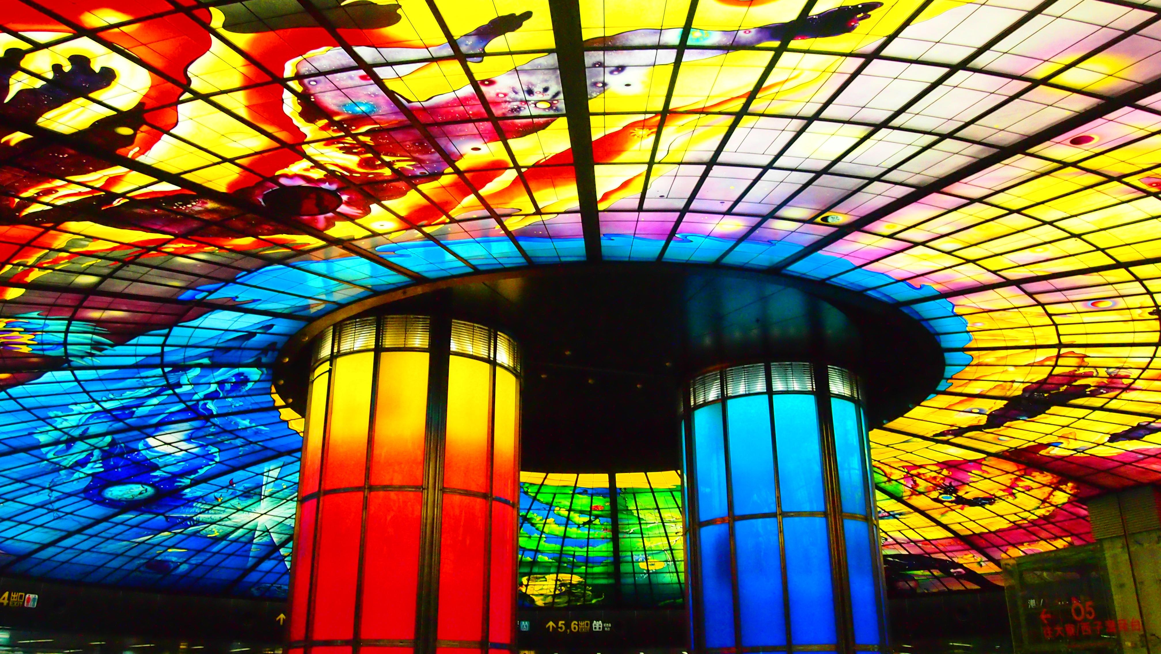 Fotoğraf Pencere Bardak Dekorasyon Renk Malzeme Vitray Metro