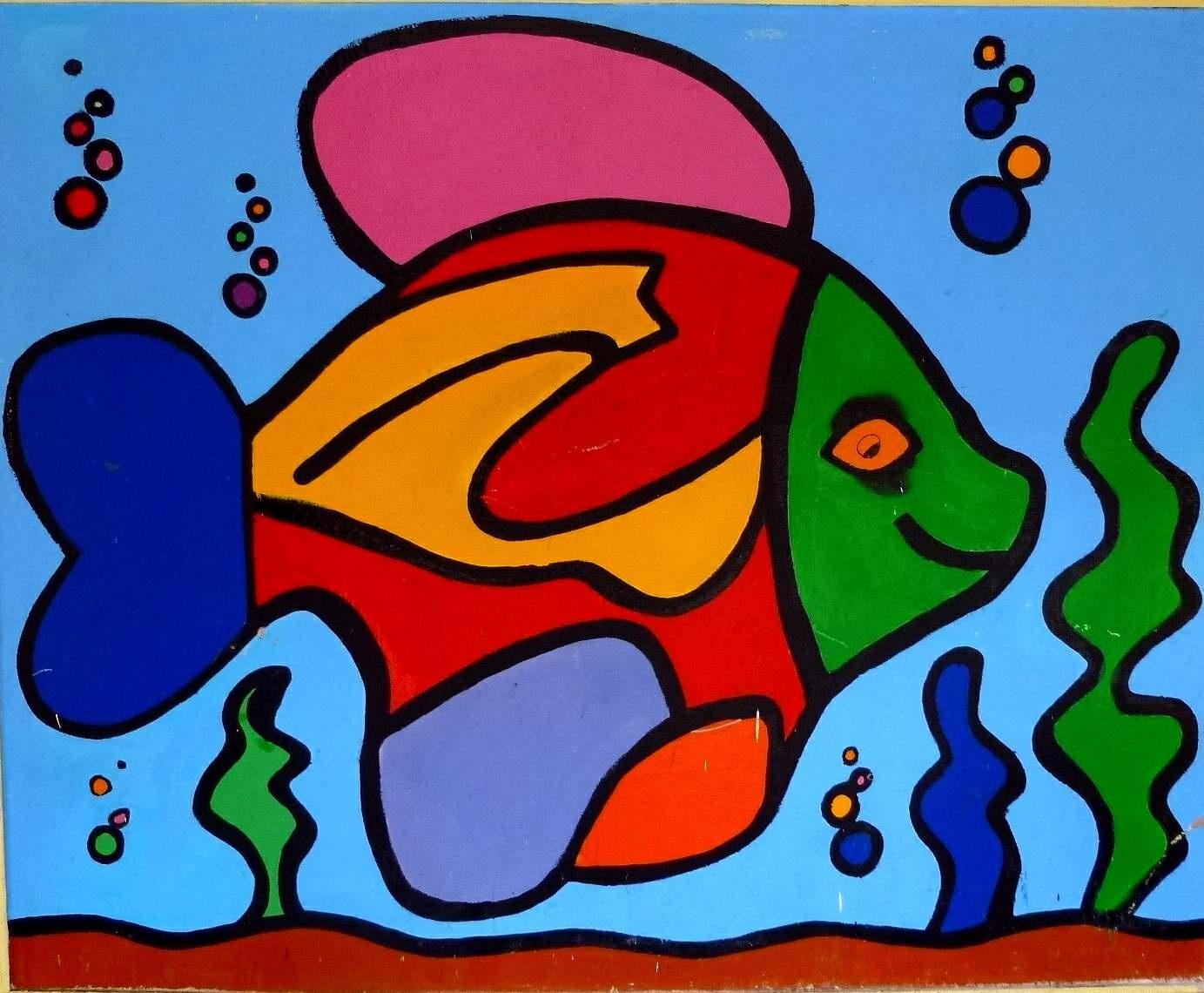 Free Images : window, glass, fish, graffiti, painting, street art ...
