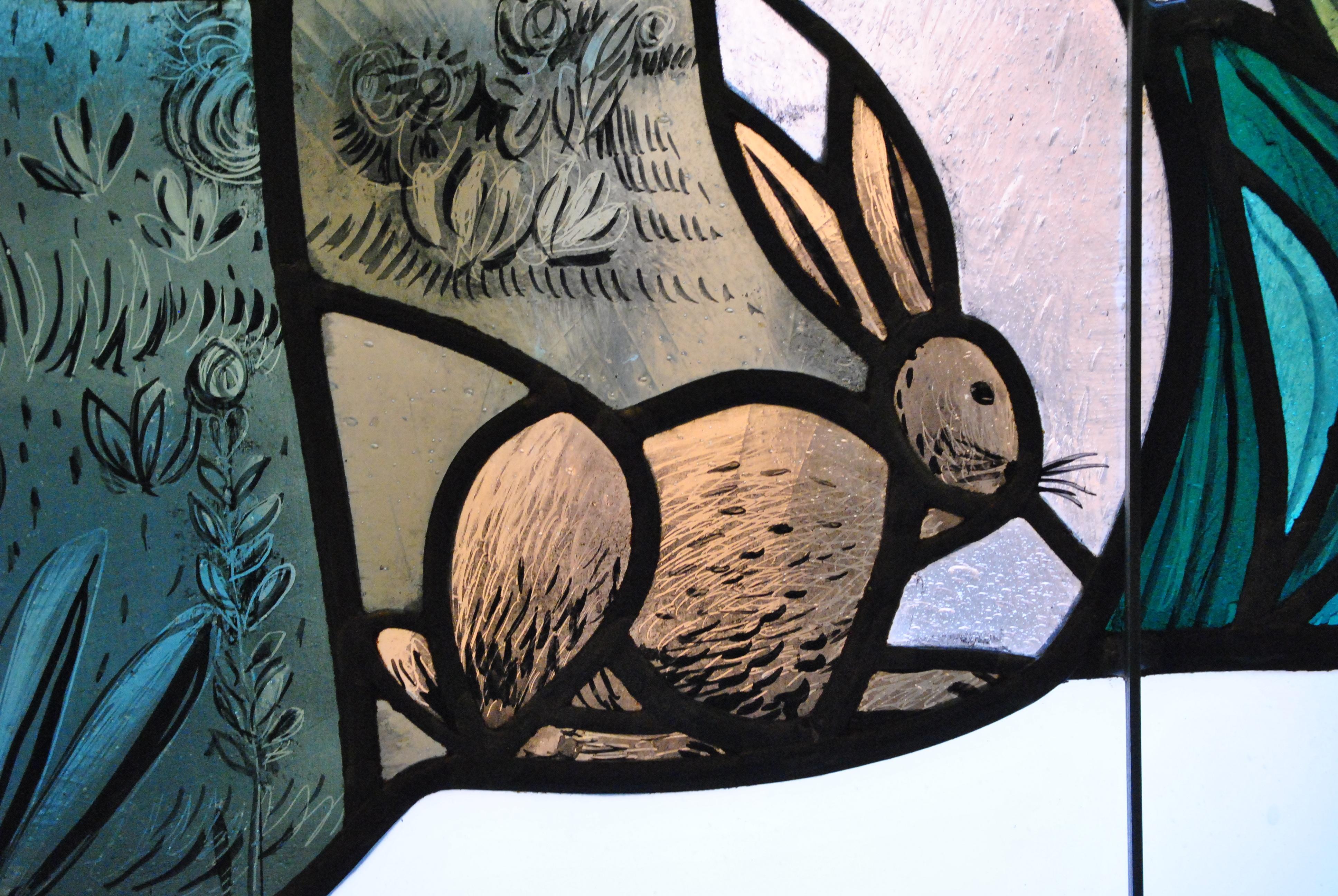 Gambar Kelinci Sketsa Gambar Ilustrasi Lukisan Dinding Paskah