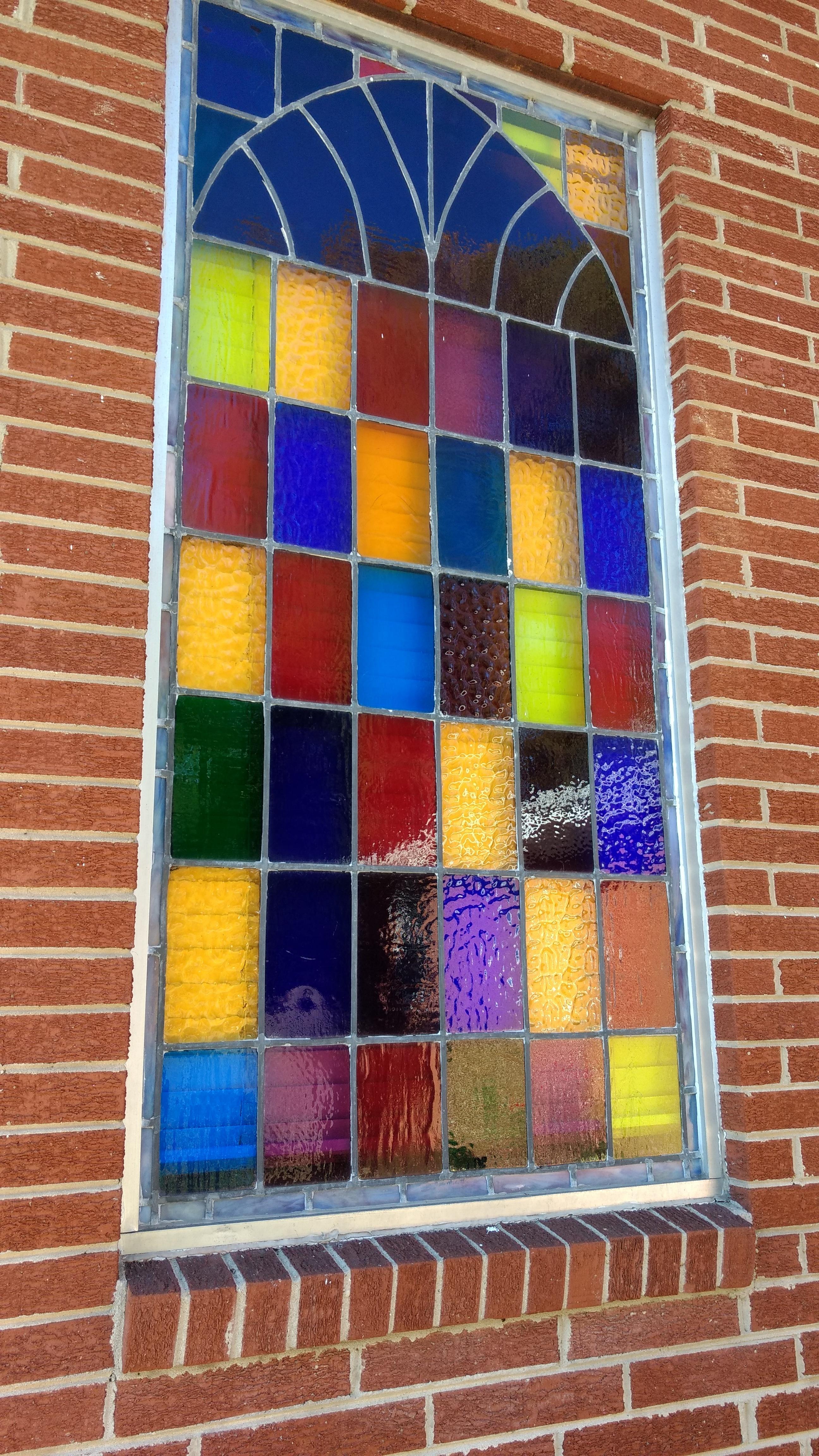 ventana vaso pared patrn color fachada azul material vitral circulo diseo de interiores textil art diseo