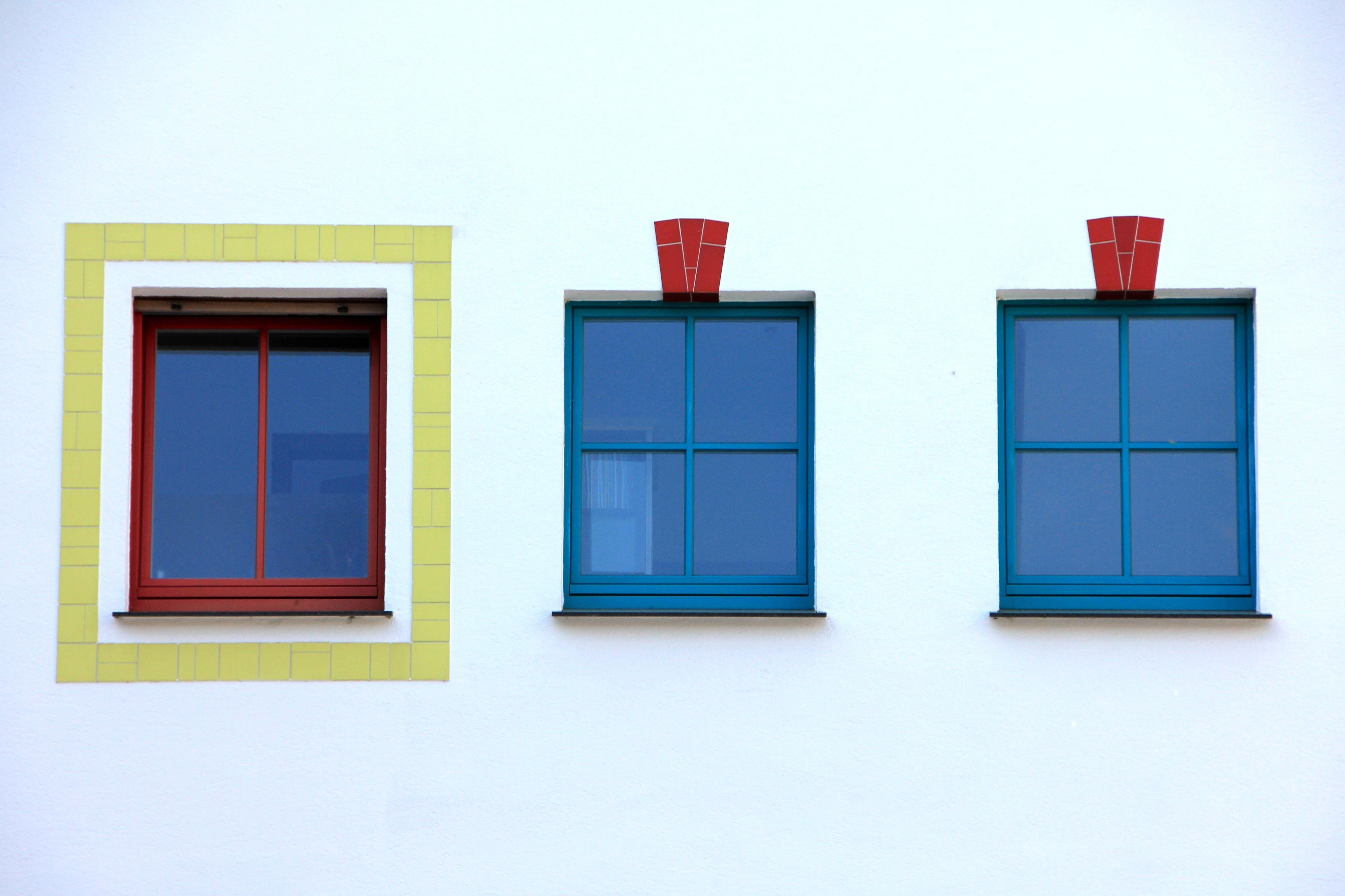 Kostenlose foto : Fenster, Zuhause, rot, Farbe, Rahmen, blau, bunt ...