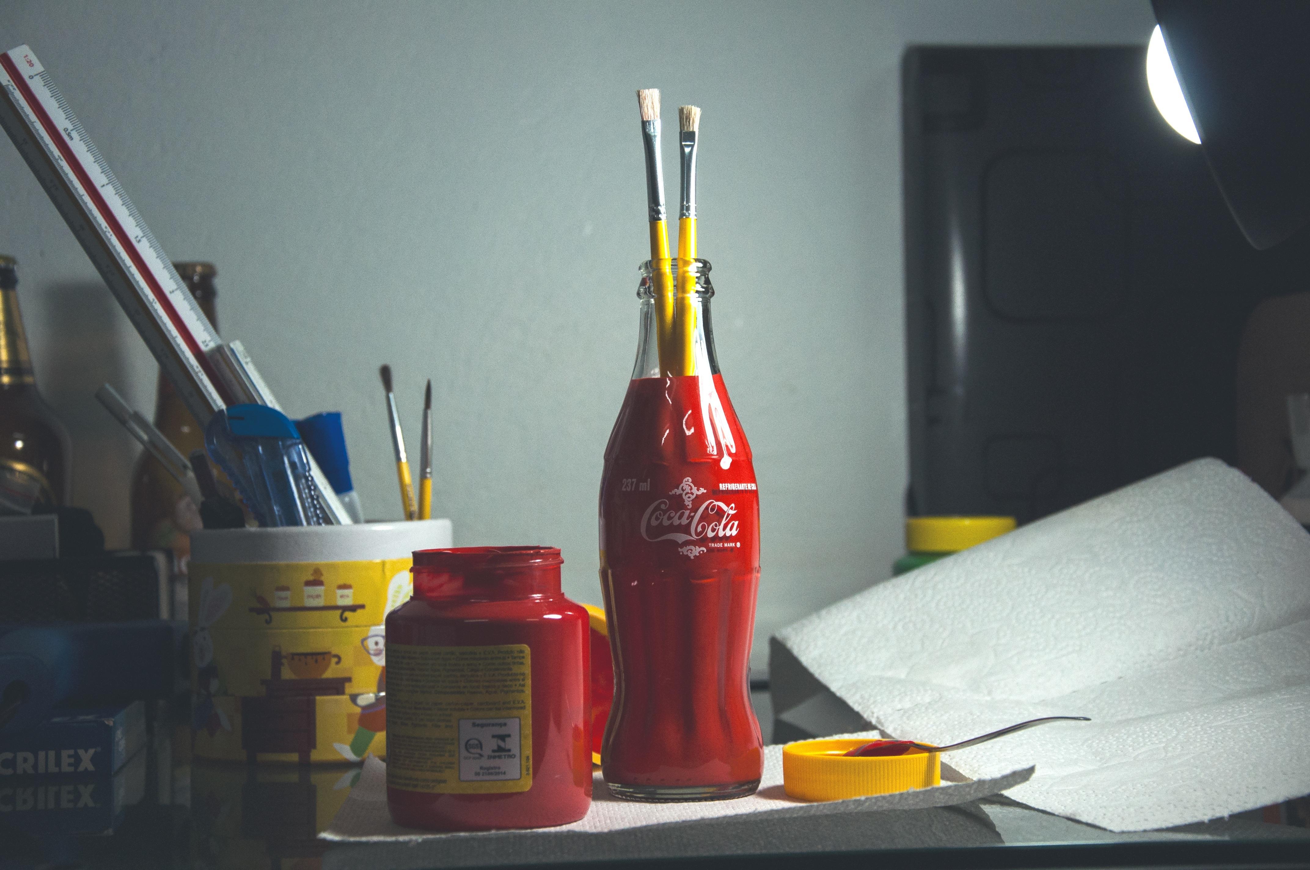 Fotoğraf Fırça Araç Kavanoz Kırmızı Ekipman Sanatsal Sanatçı