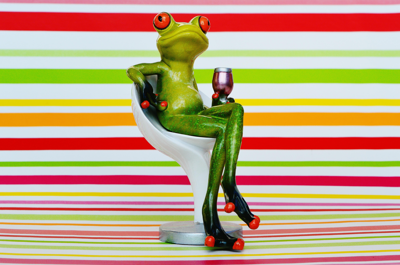 Gambar Anggur Manis Kursi Imut Bersantai Nyaman Minum Beristirahat Katak
