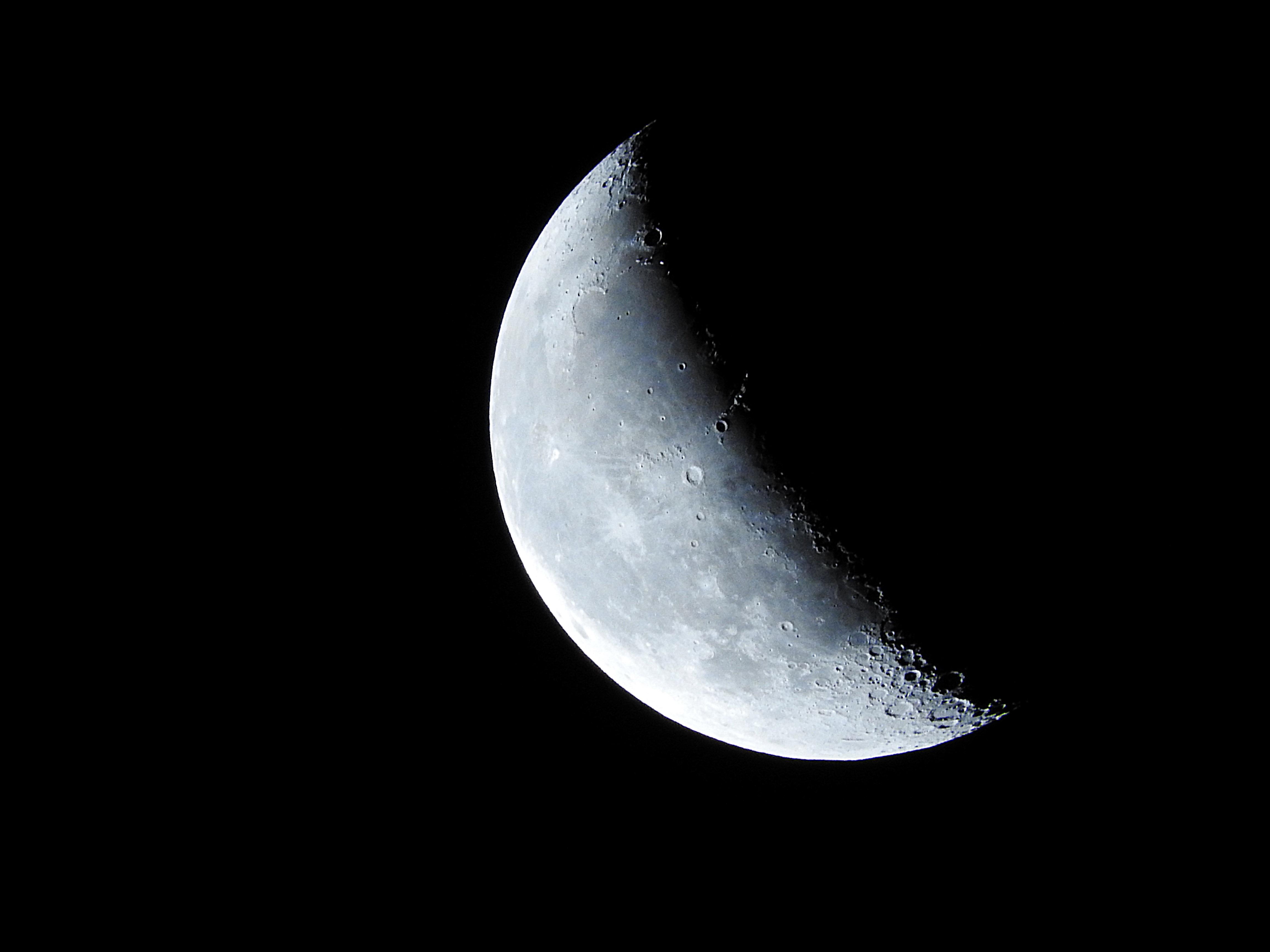 Gambar Sayap Suasana Luar Angkasa Bulan Sabit Objek Astronomi