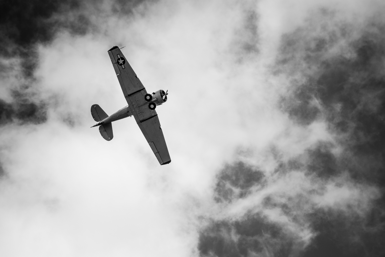 images gratuites aile nuage noir et blanc ciel avion v hicule aviation vol monochrome. Black Bedroom Furniture Sets. Home Design Ideas