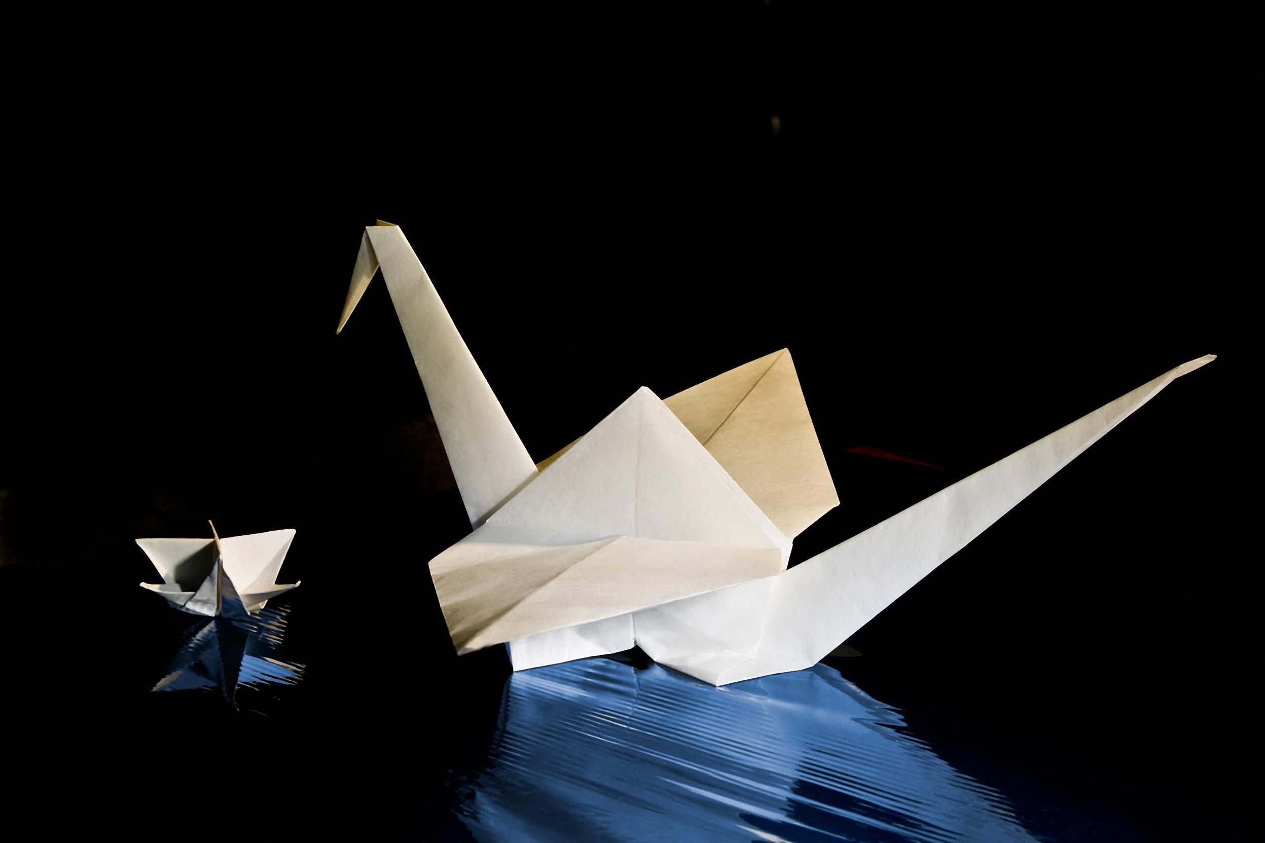 Free images wing light white wheel star blue swan wing light white wheel star blue paper swan art symmetry fold shape effect folding origami kink jeuxipadfo Images
