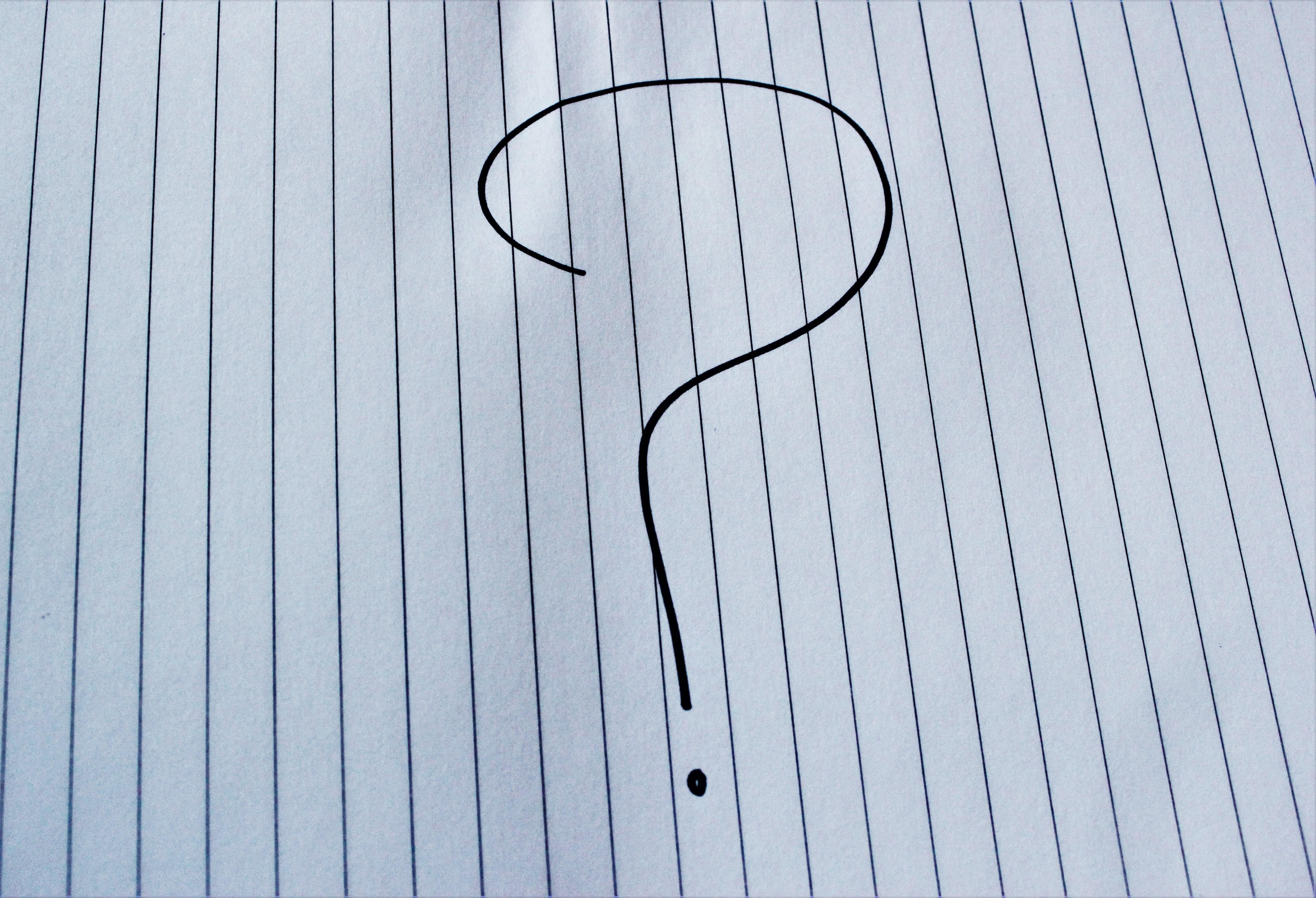 Line Drawing Question Mark : รูปภาพ ปีก จำนวน ลงชื่อ บรรทัด สัญลักษณ์ สีน้ำเงิน