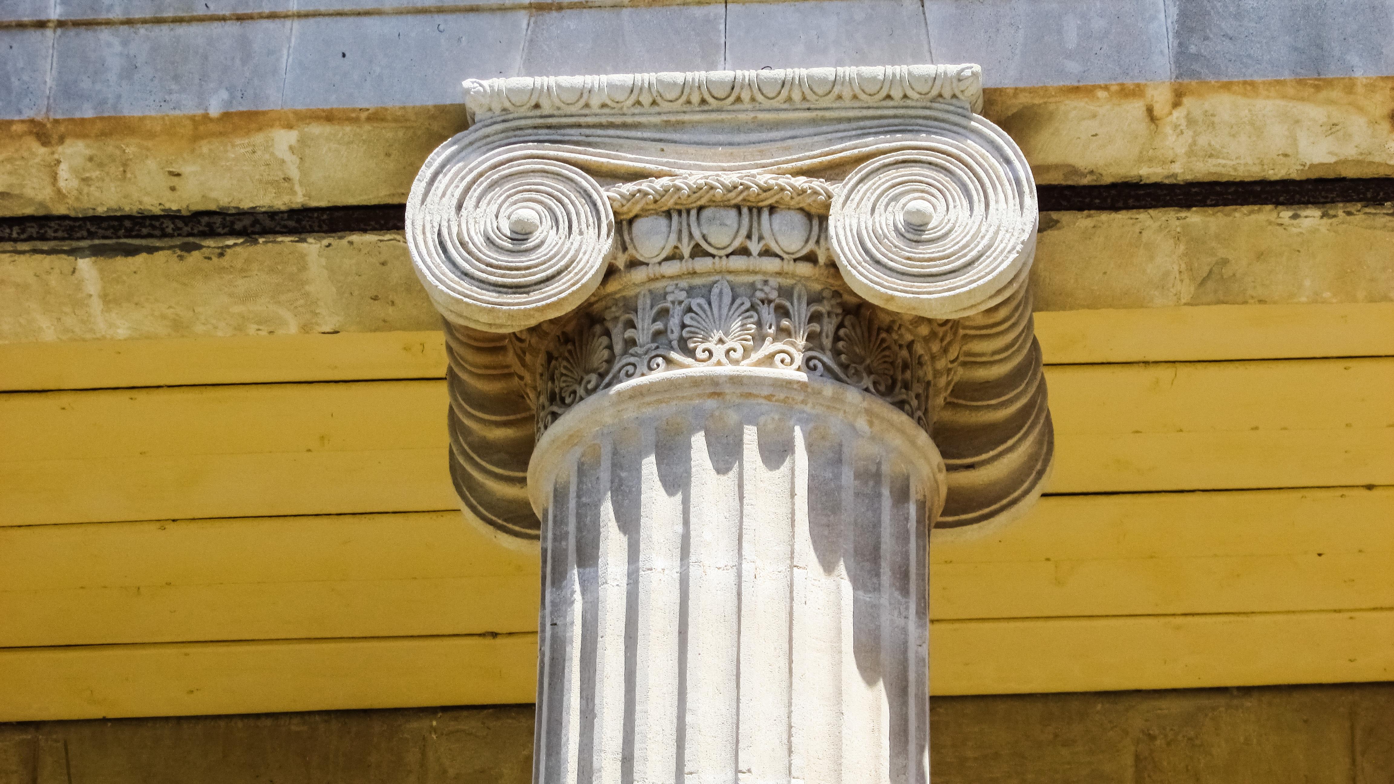 Free images wing structure wood pillar column greek