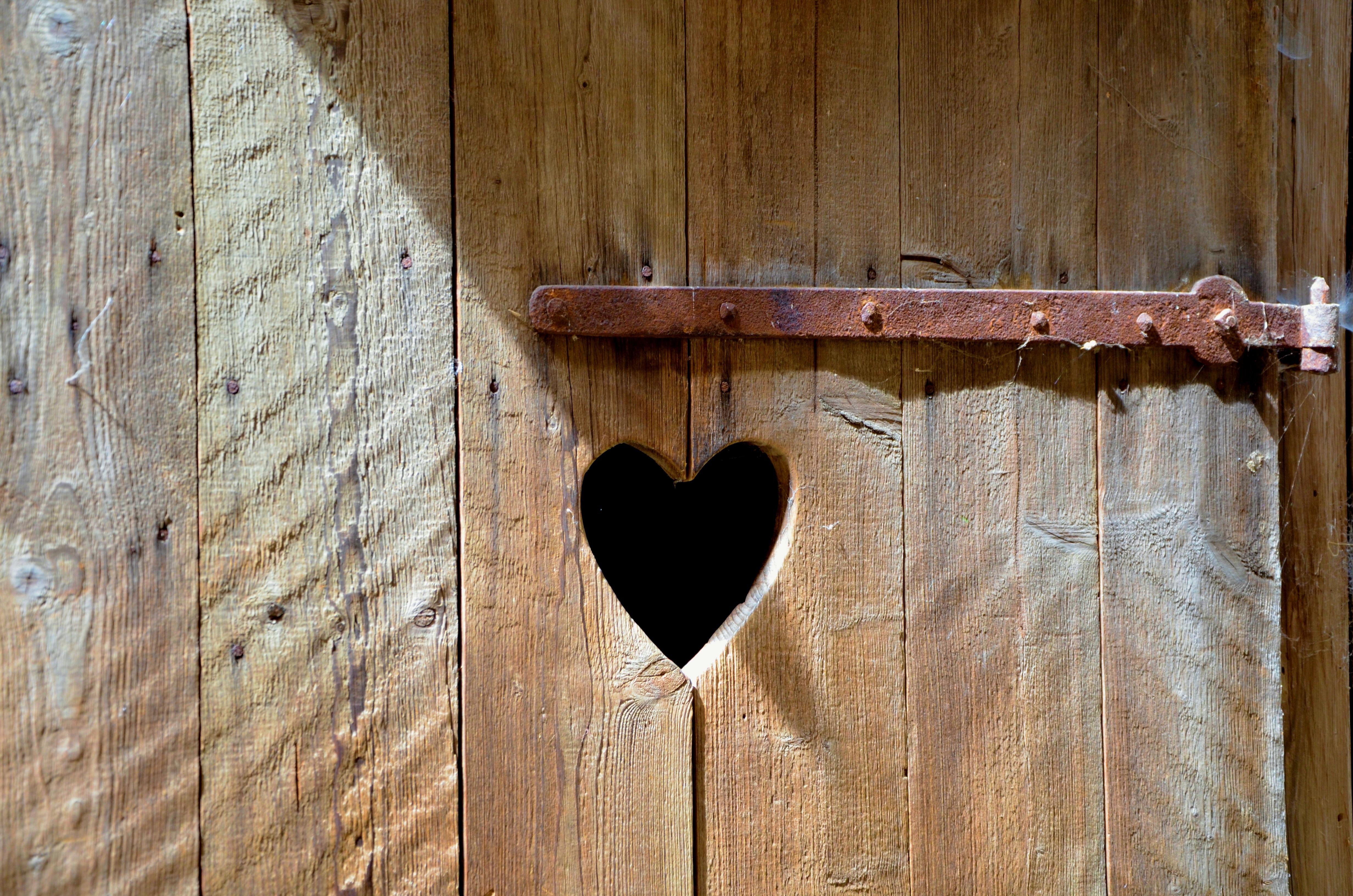 wing wood old wall heart toilet furniture door wooden door rusty carving old door & Free Images : wing wood wall heart toilet furniture wooden ...