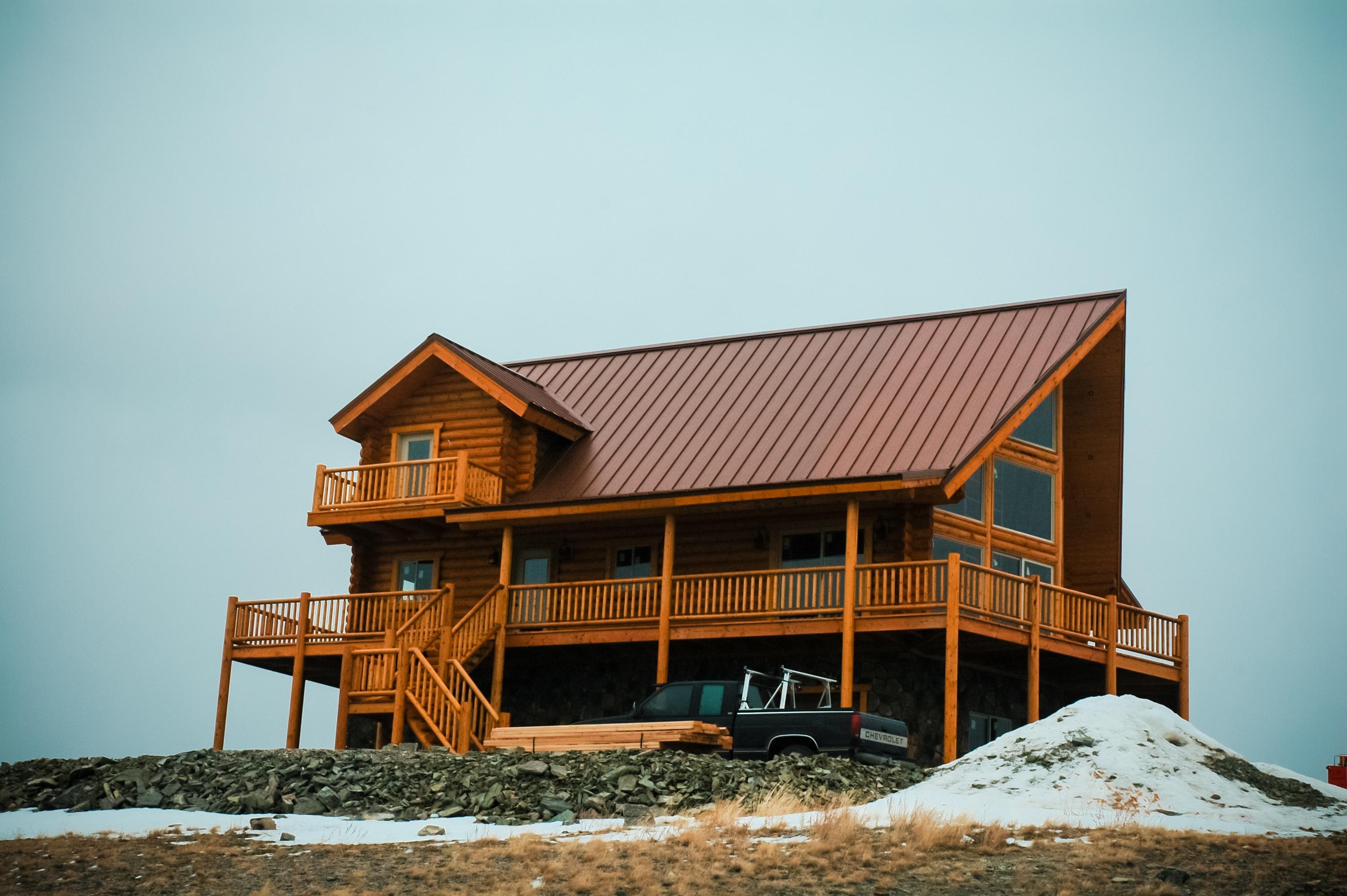 Kostenlose foto : Winter, die Architektur, Holz, Haus, Hügel, Dach ...
